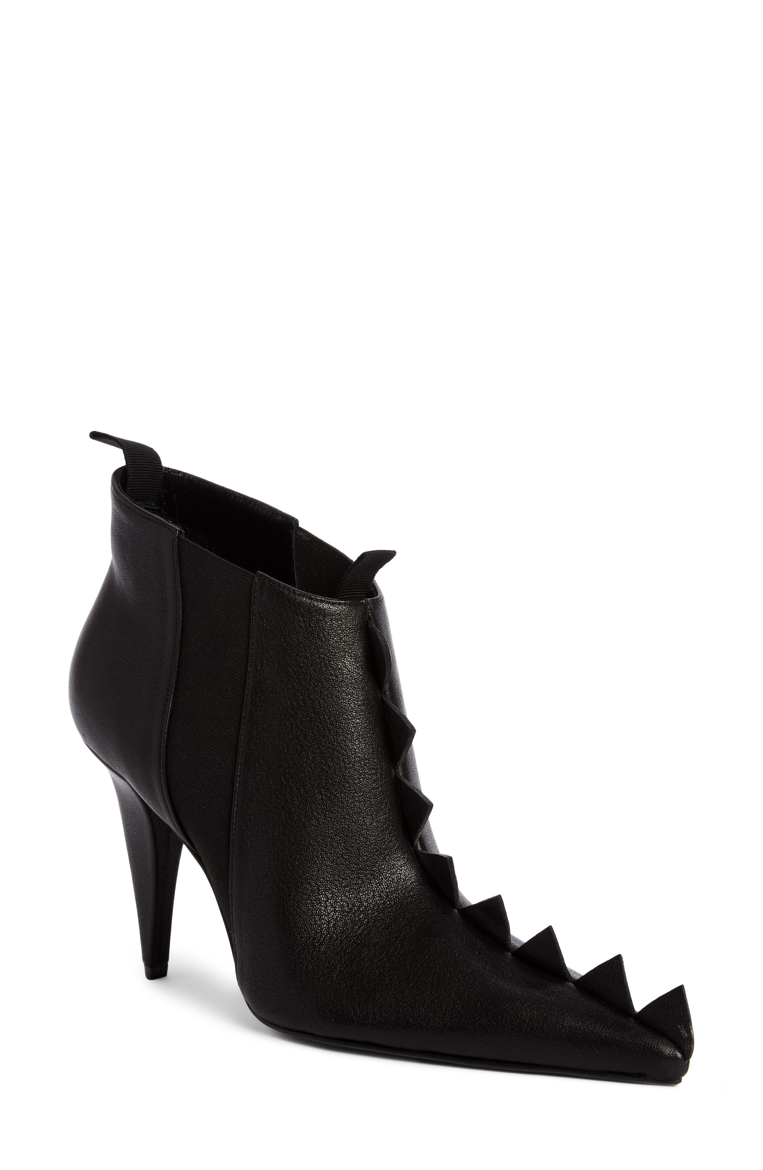 Geo Trim Pointy Toe Boot,                             Main thumbnail 1, color,                             Black