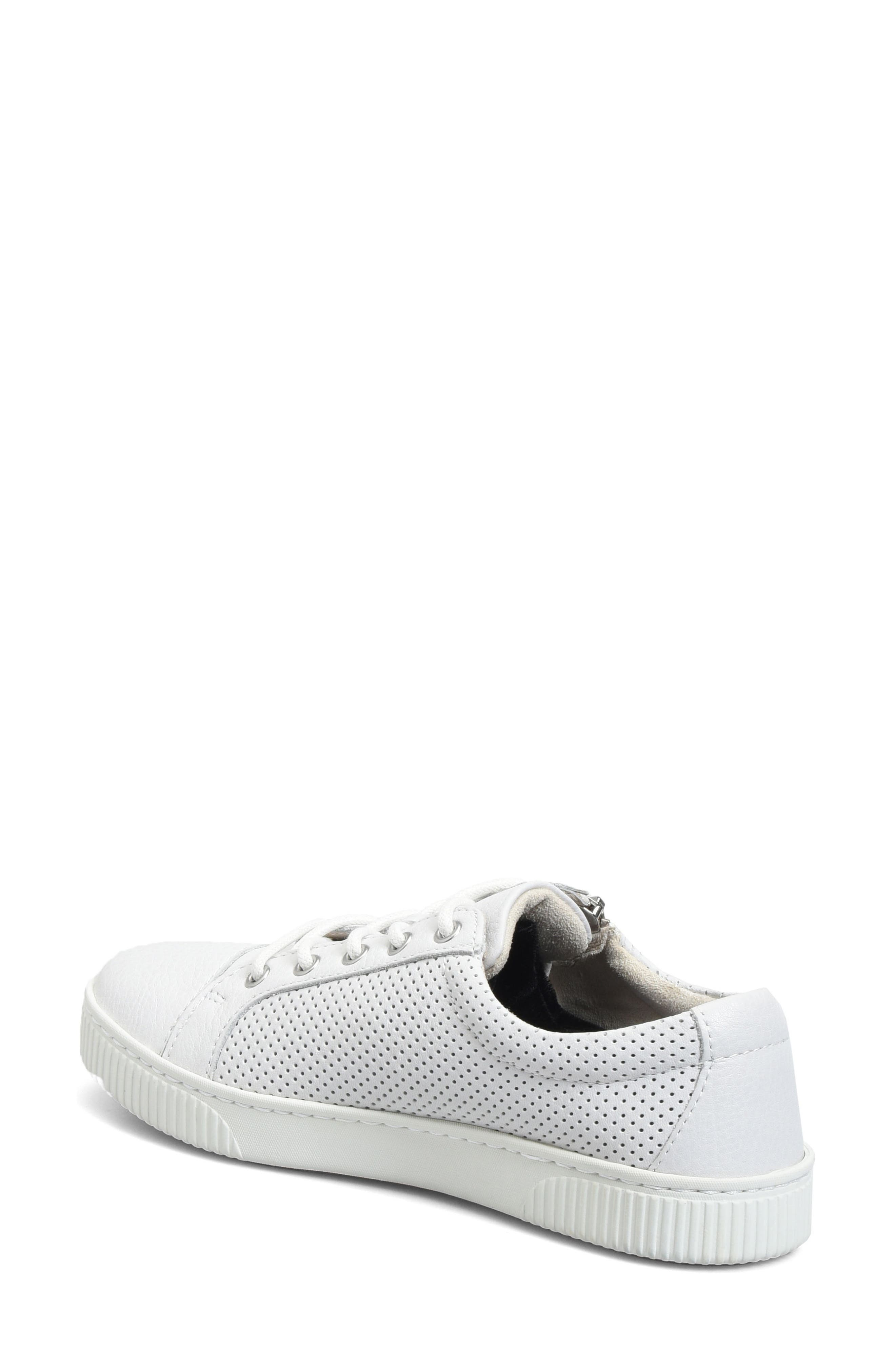 Tamara Perforated Sneaker,                             Alternate thumbnail 2, color,                             White Leather