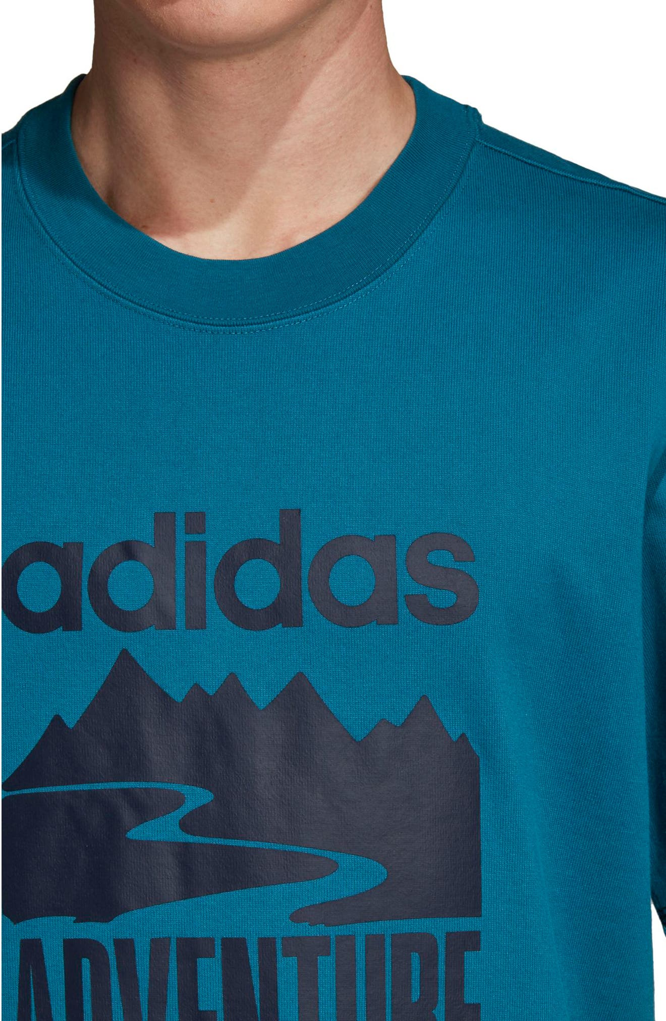 Adventure Graphic T-Shirt,                             Alternate thumbnail 4, color,                             Real Teal