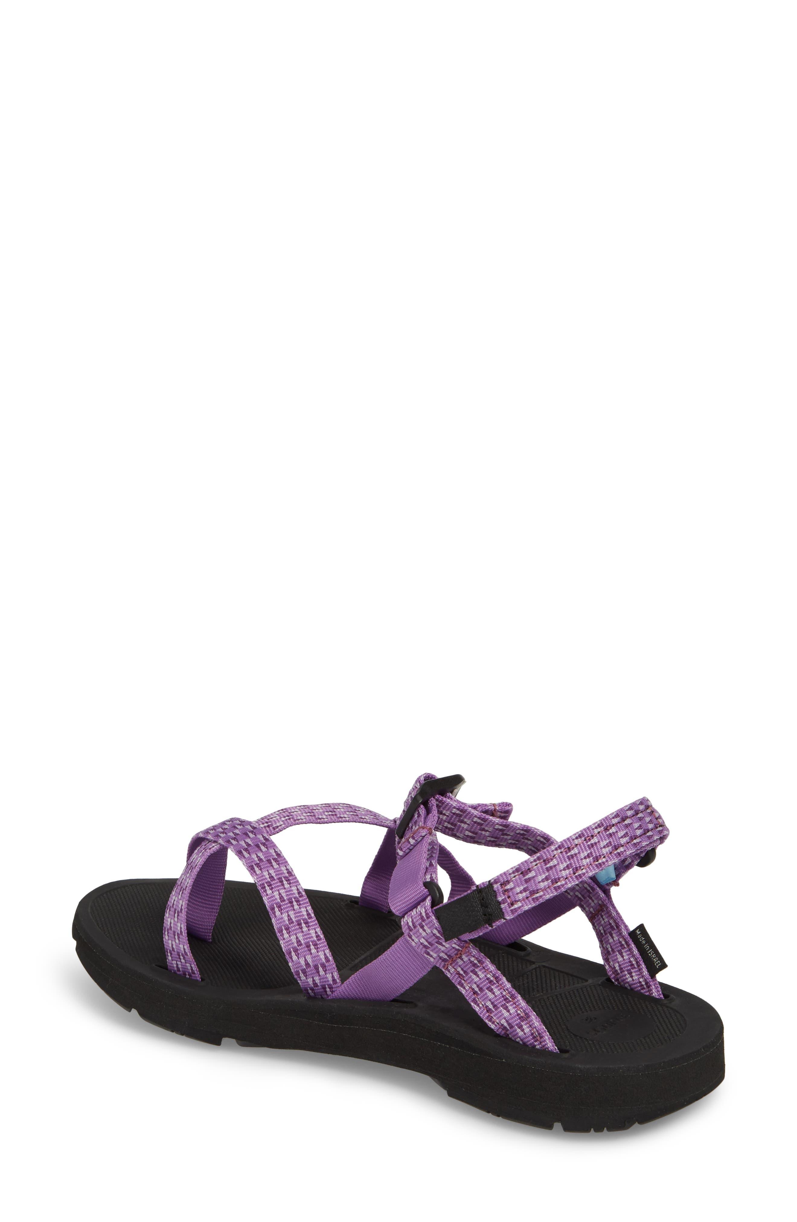 Shore Sandal,                             Alternate thumbnail 2, color,                             Purple Triangles Fabric