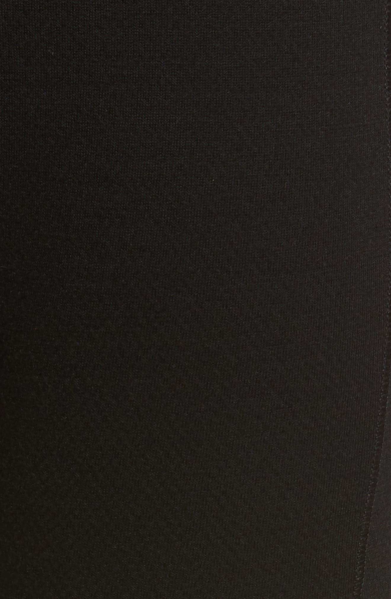 Lifa Merino Wool Blend Tights,                             Alternate thumbnail 5, color,                             Black