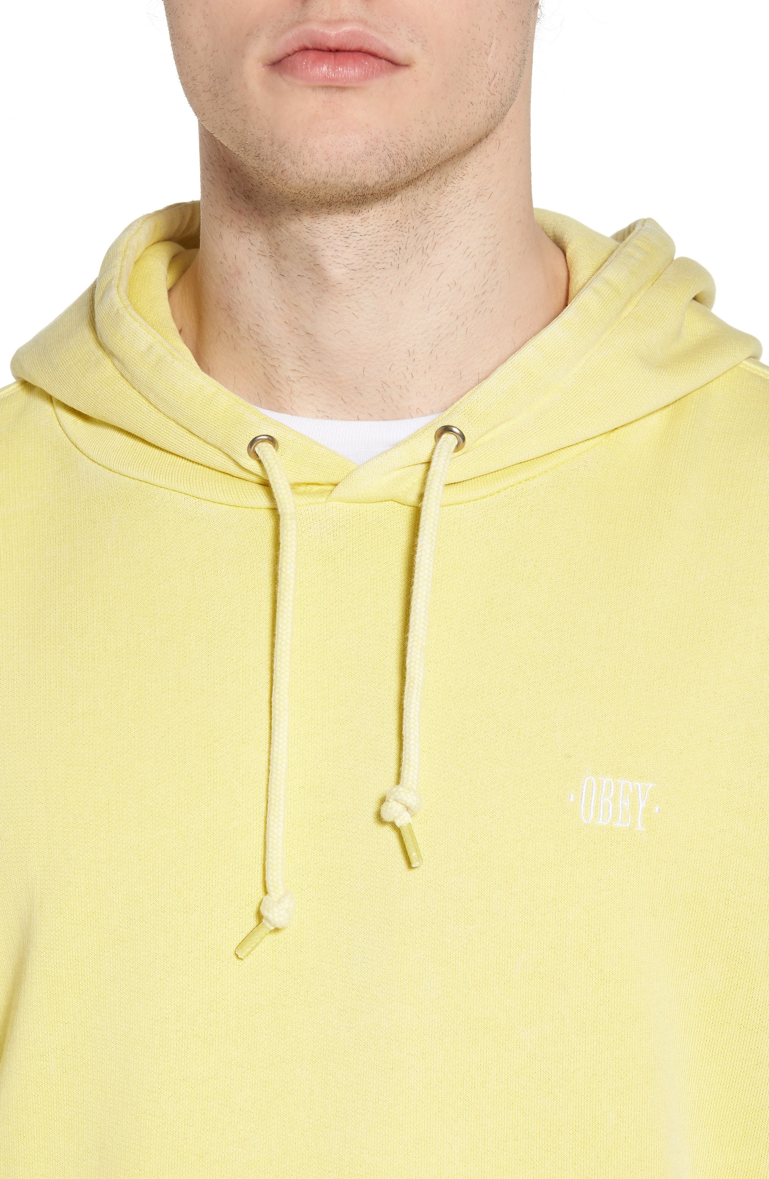 Faded Pigment Dyed Hoodie Sweatshirt,                             Alternate thumbnail 4, color,                             Yellow