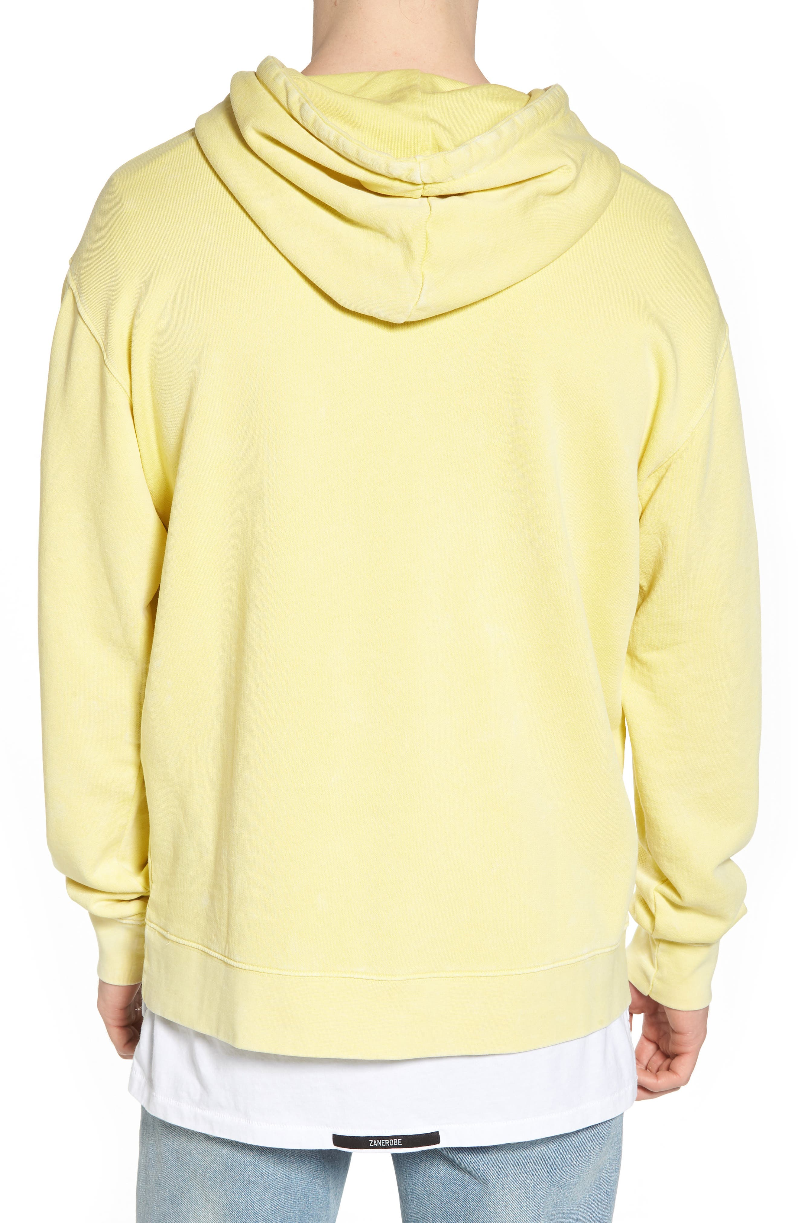 Faded Pigment Dyed Hoodie Sweatshirt,                             Alternate thumbnail 2, color,                             Yellow