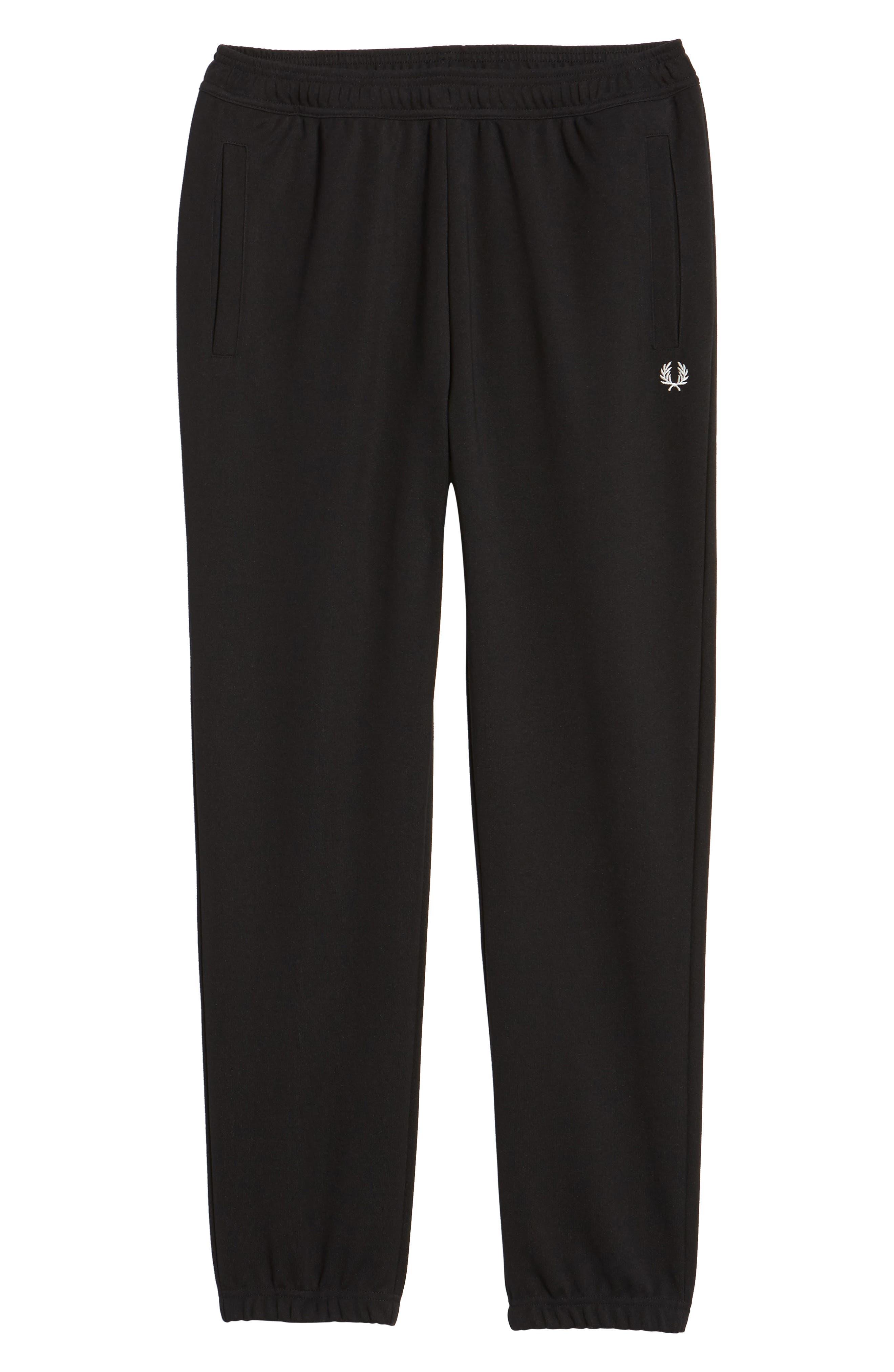 Reverse Tricot Track Pants,                             Alternate thumbnail 6, color,                             Black