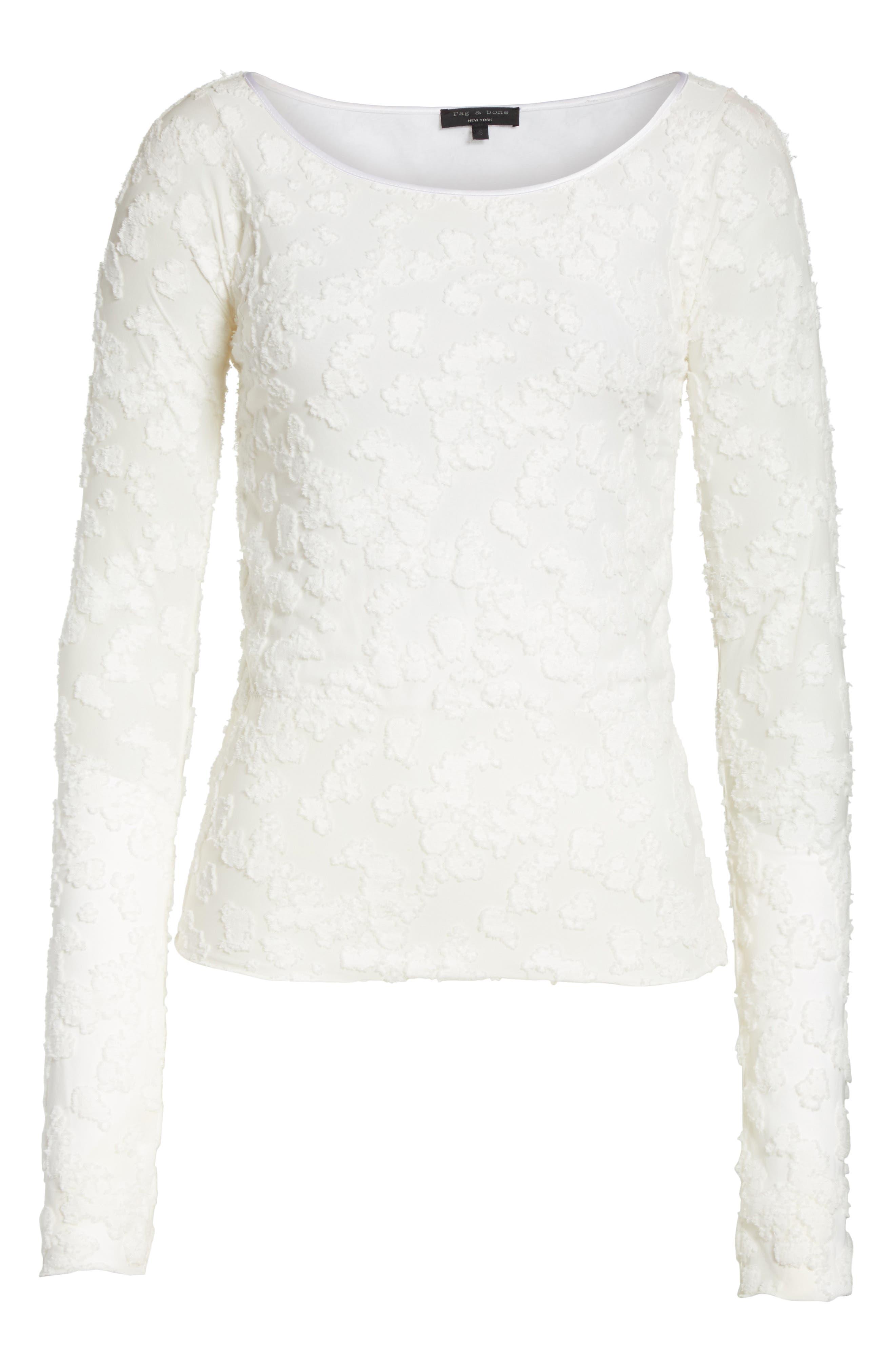 Alternate Image 6  - rag & bone Lucie Floral Jacquard Sweater