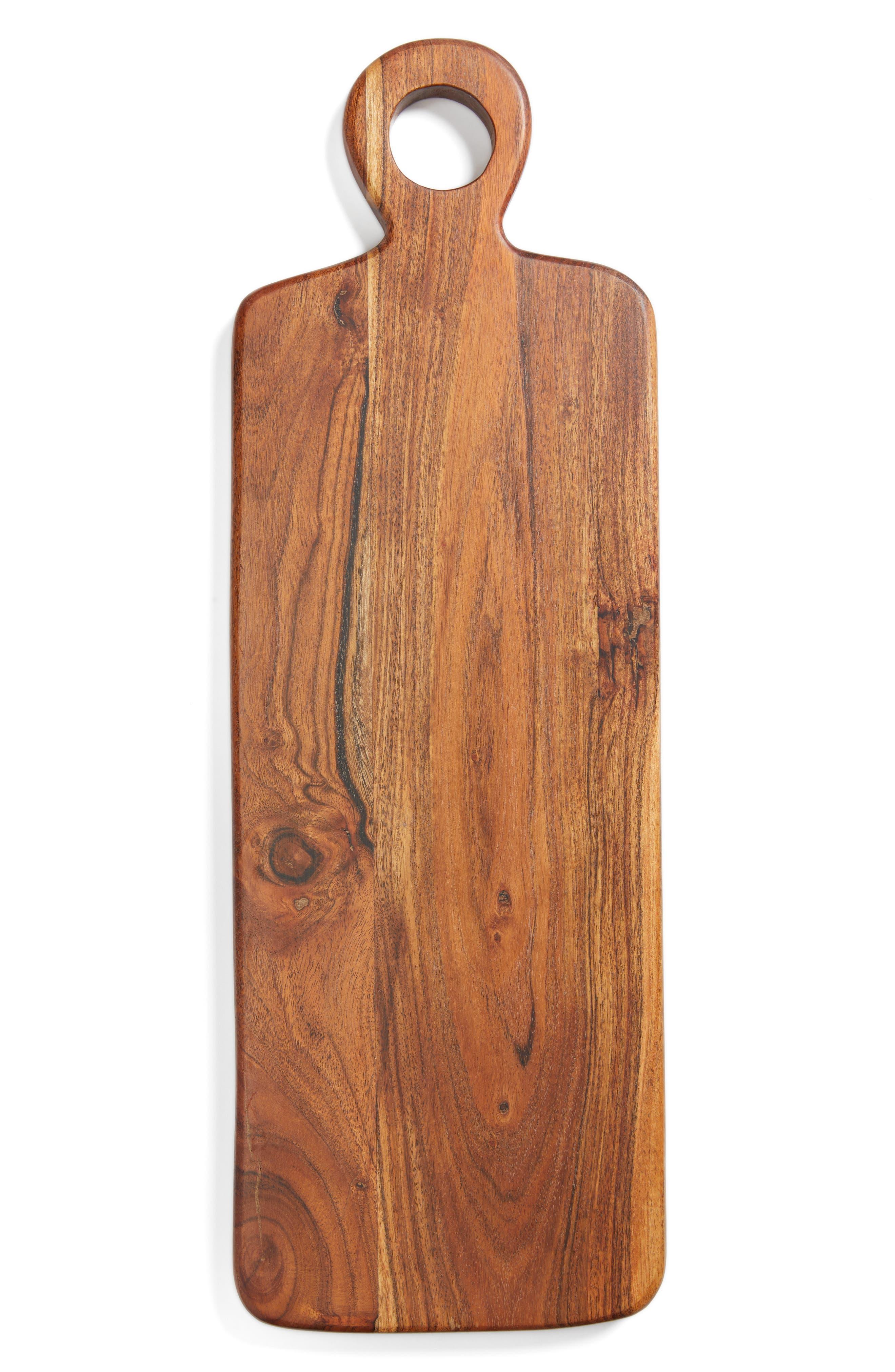 Acacia Wood Cheese Board,                             Main thumbnail 1, color,                             Brown