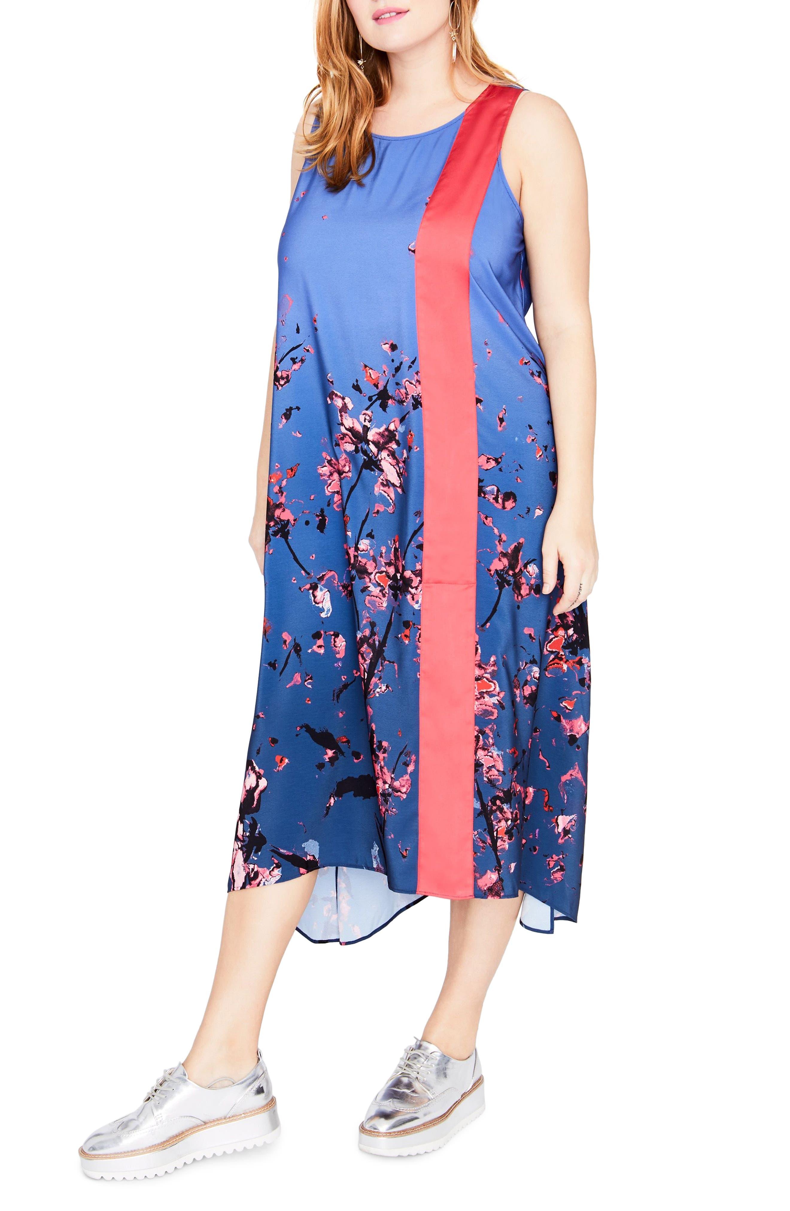 RACHEL Rachel Roy Panel Scarf Dress (Plus Size)