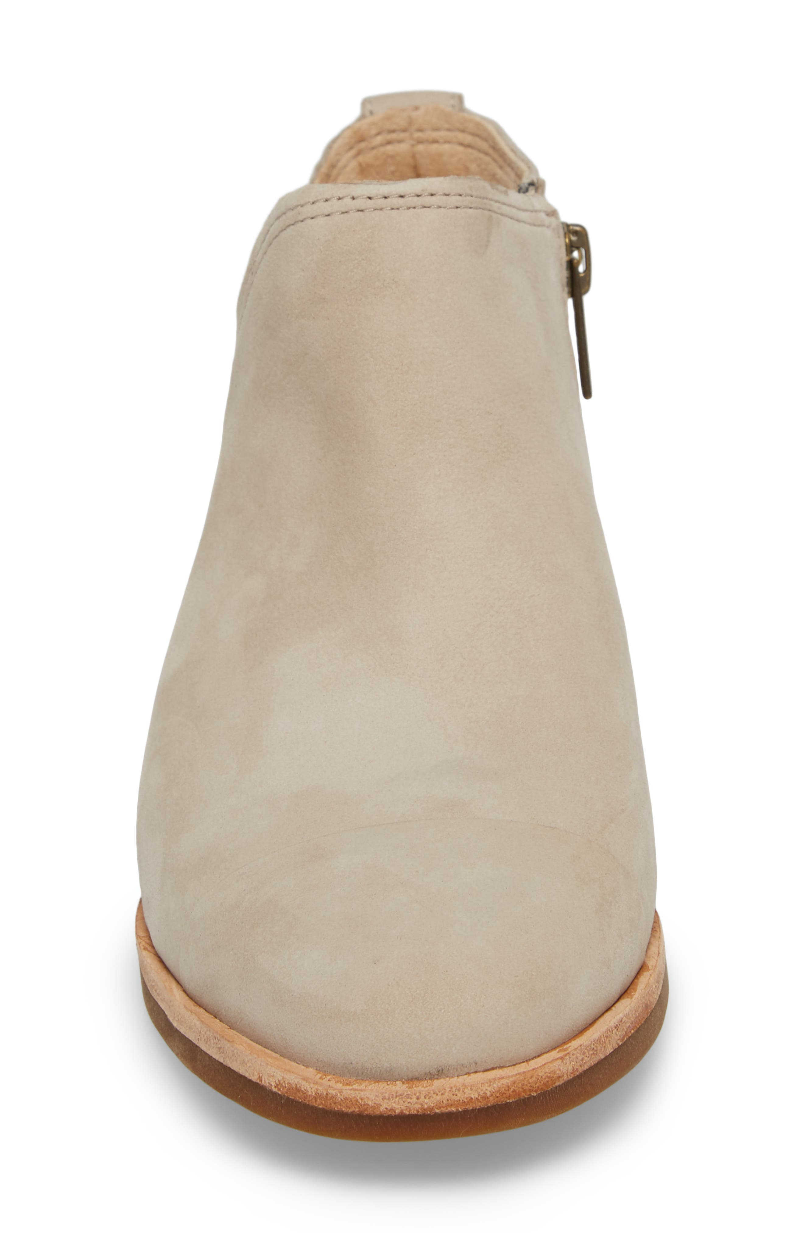 Somers Falls Short Ankle Bootie,                             Alternate thumbnail 4, color,                             Light Taupe Nubuck Leather