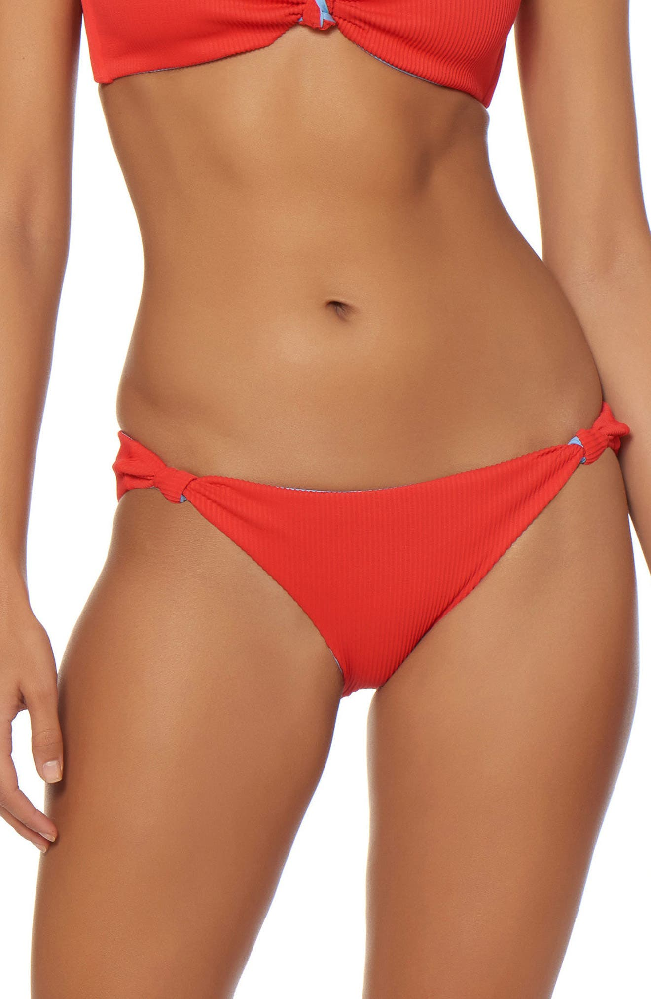 Knotted Hipster Bikini Bottoms,                         Main,                         color, Cheeky