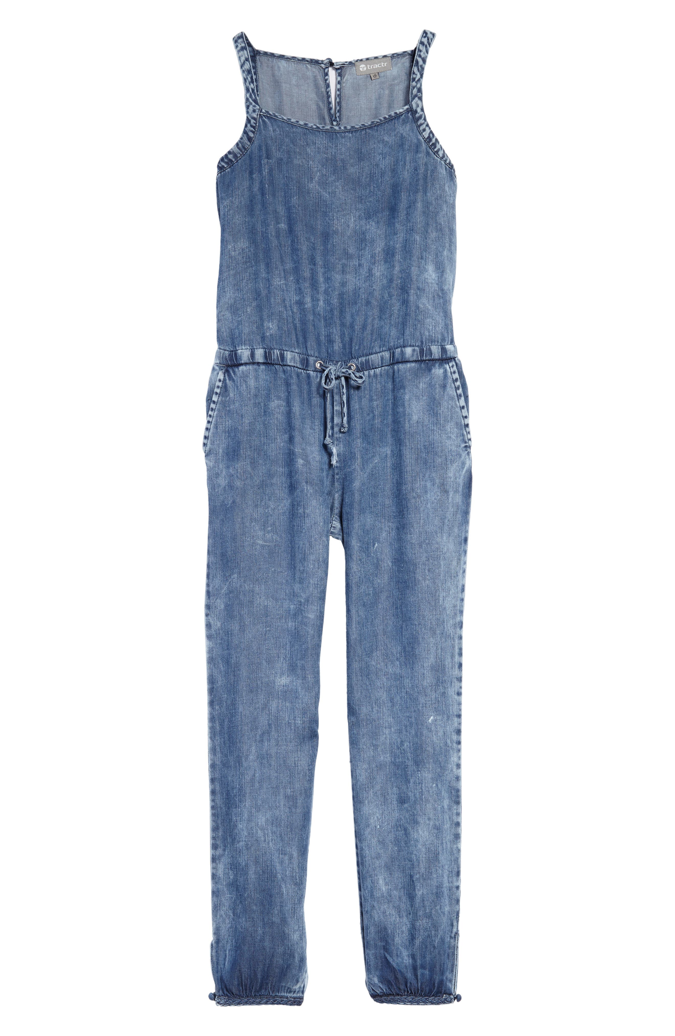 Tractr Chambray Jumpsuit (Big Girls)