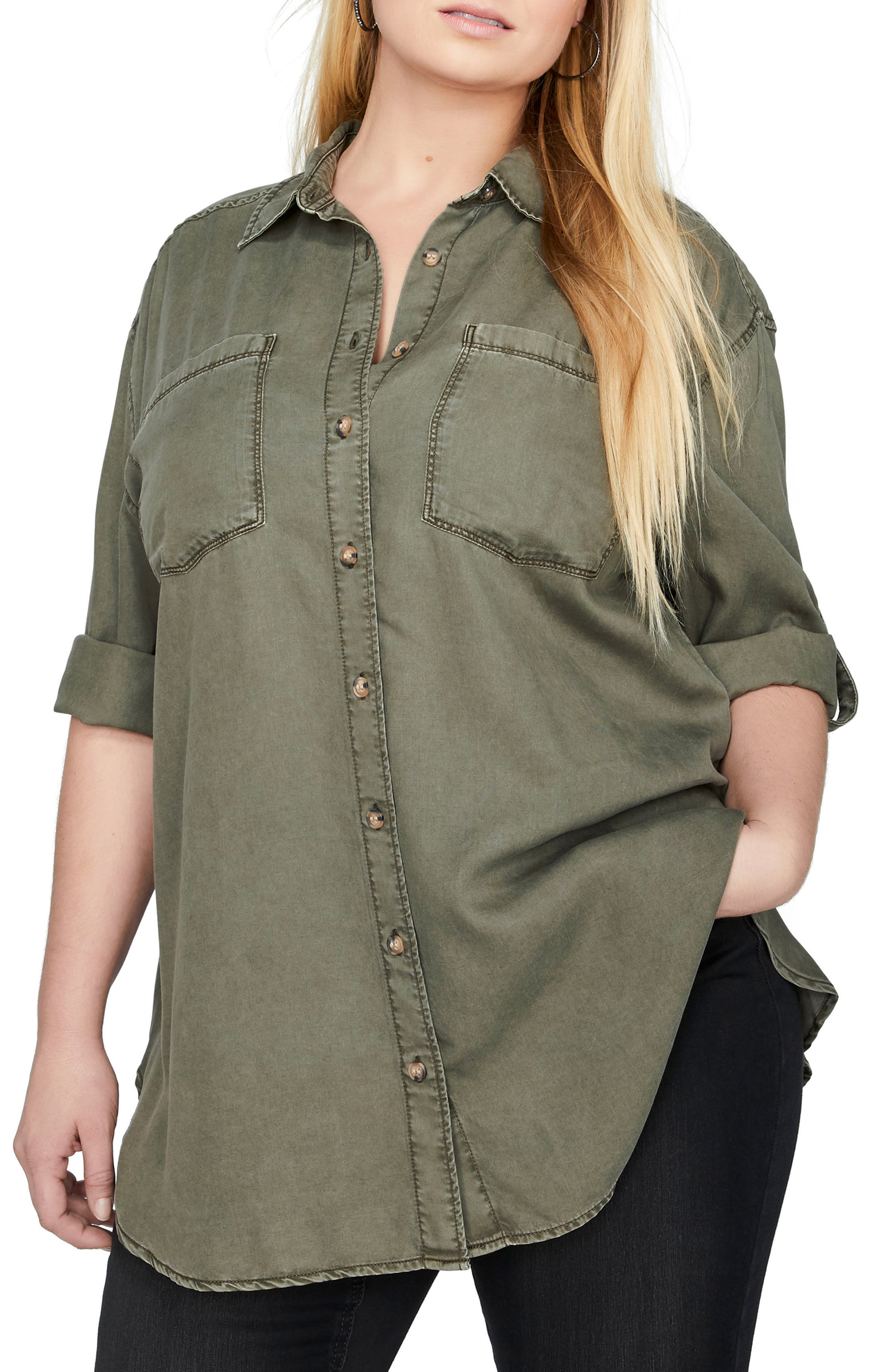 ADDITION ELLE LOVE AND LEGEND Tunic Shirt (Plus Size)