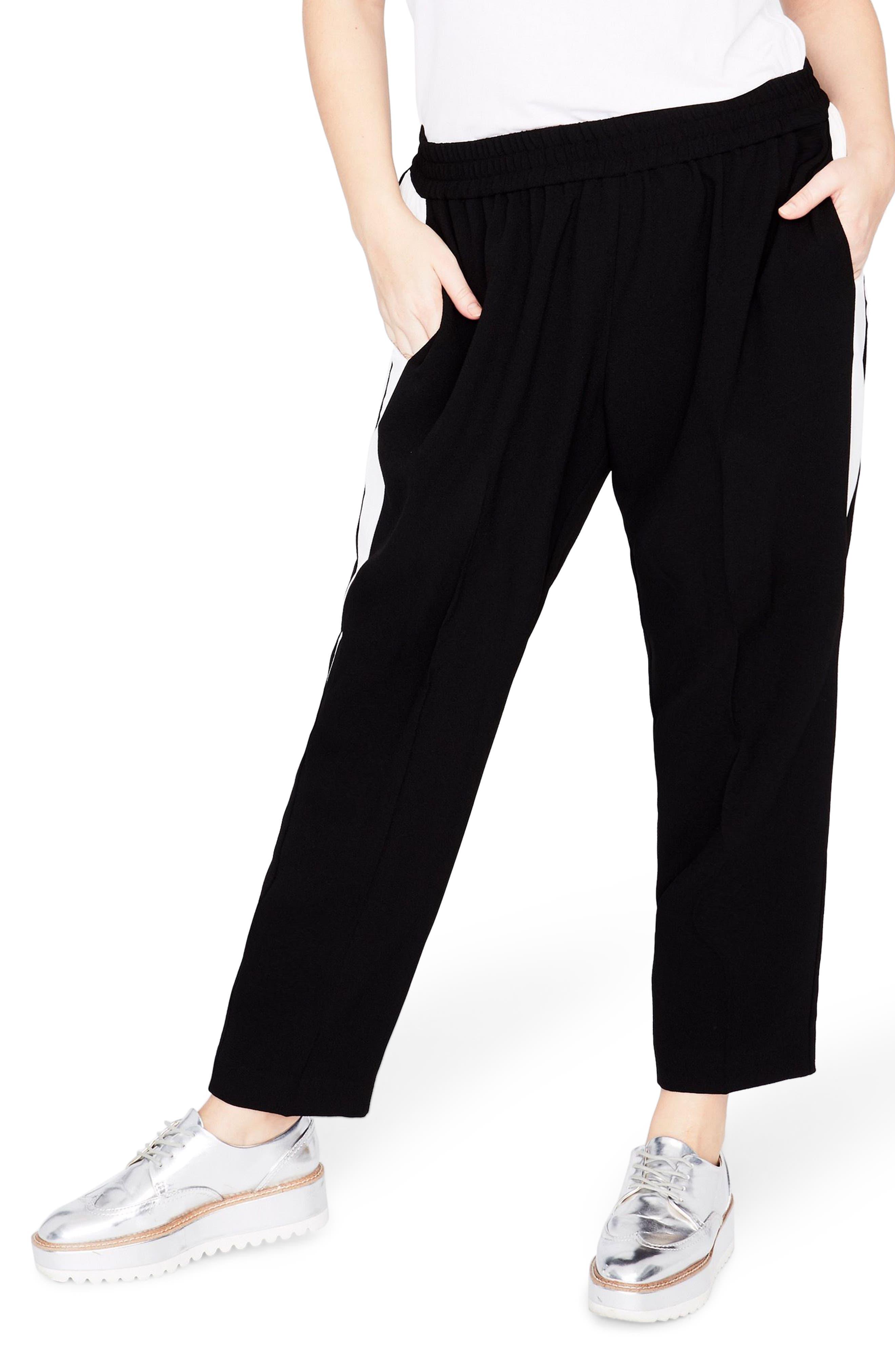 Inset Track Pants,                         Main,                         color, Black