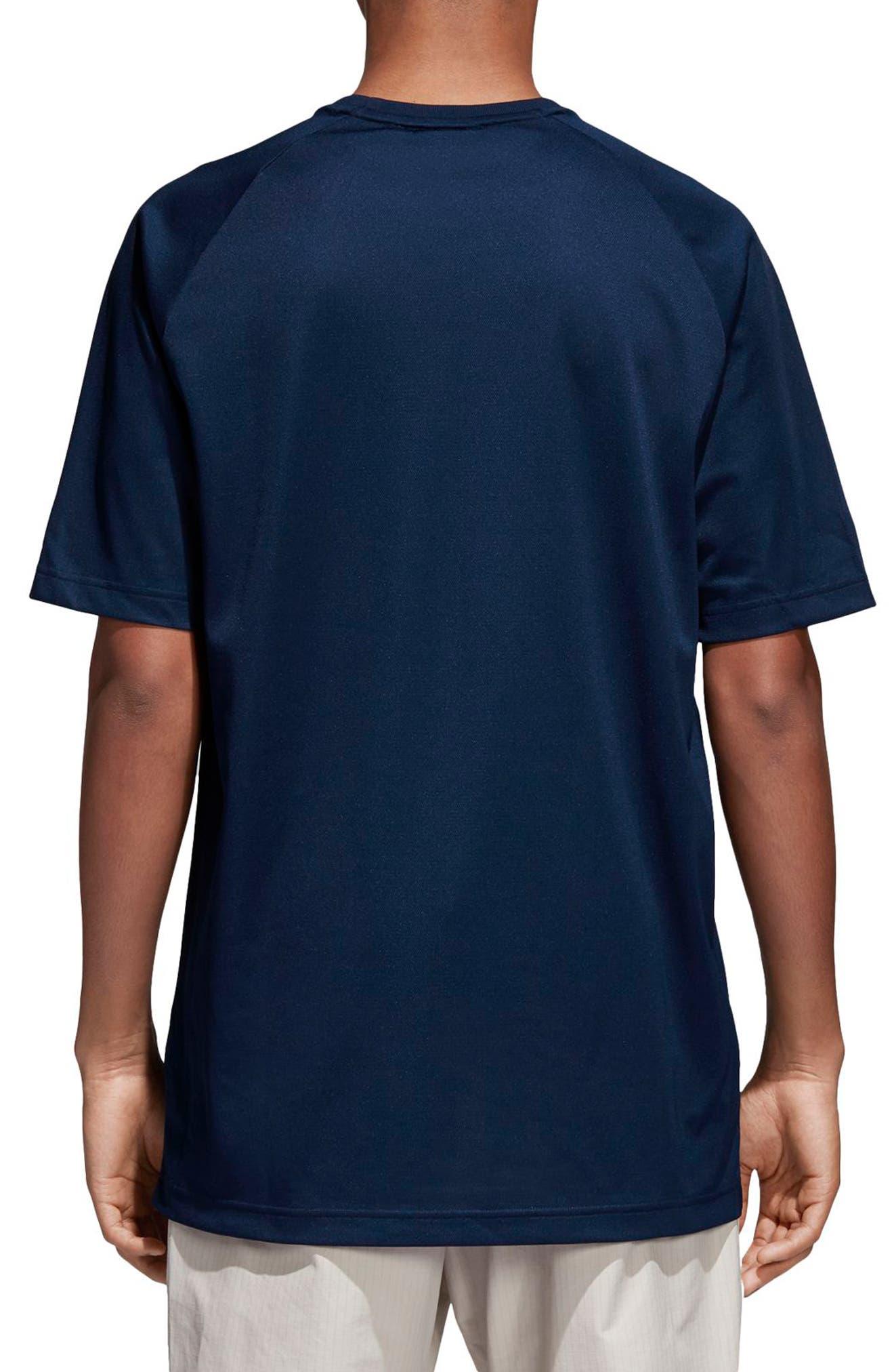 Football T-Shirt,                             Alternate thumbnail 2, color,                             Collegiate Navy