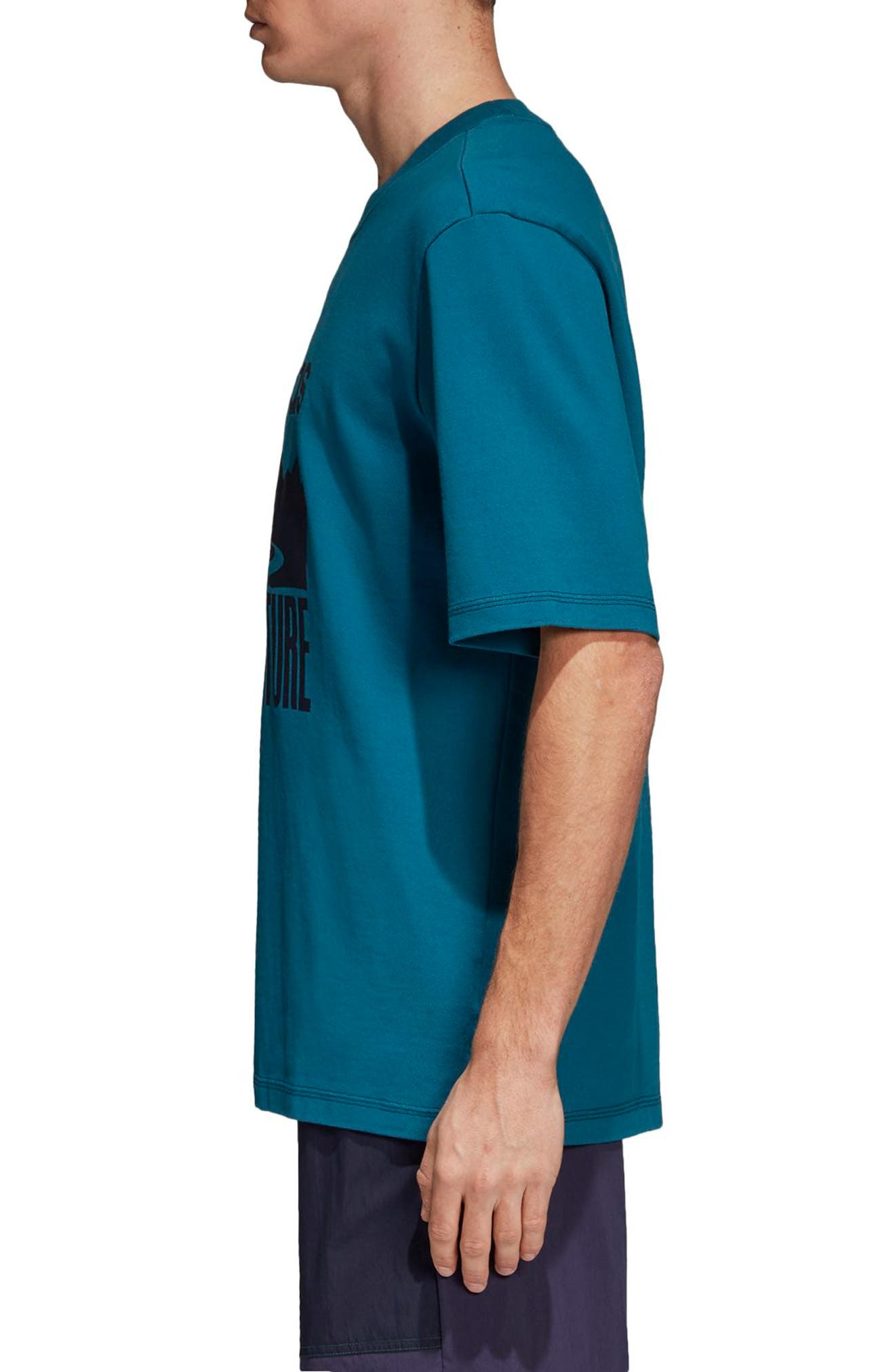 Adventure Graphic T-Shirt,                             Alternate thumbnail 3, color,                             Real Teal