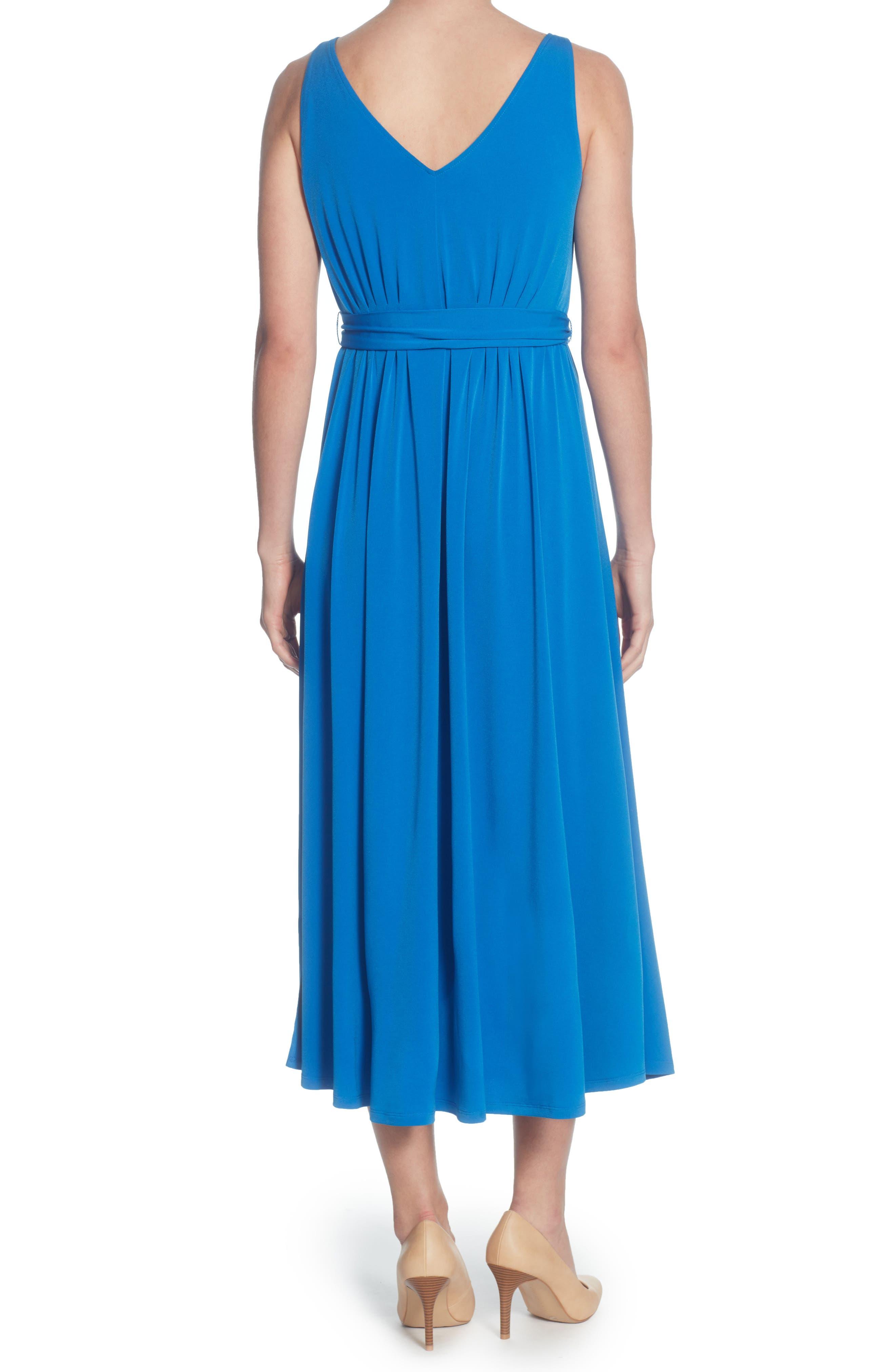 Lindy Midi Dress,                             Alternate thumbnail 2, color,                             Victoria Blue