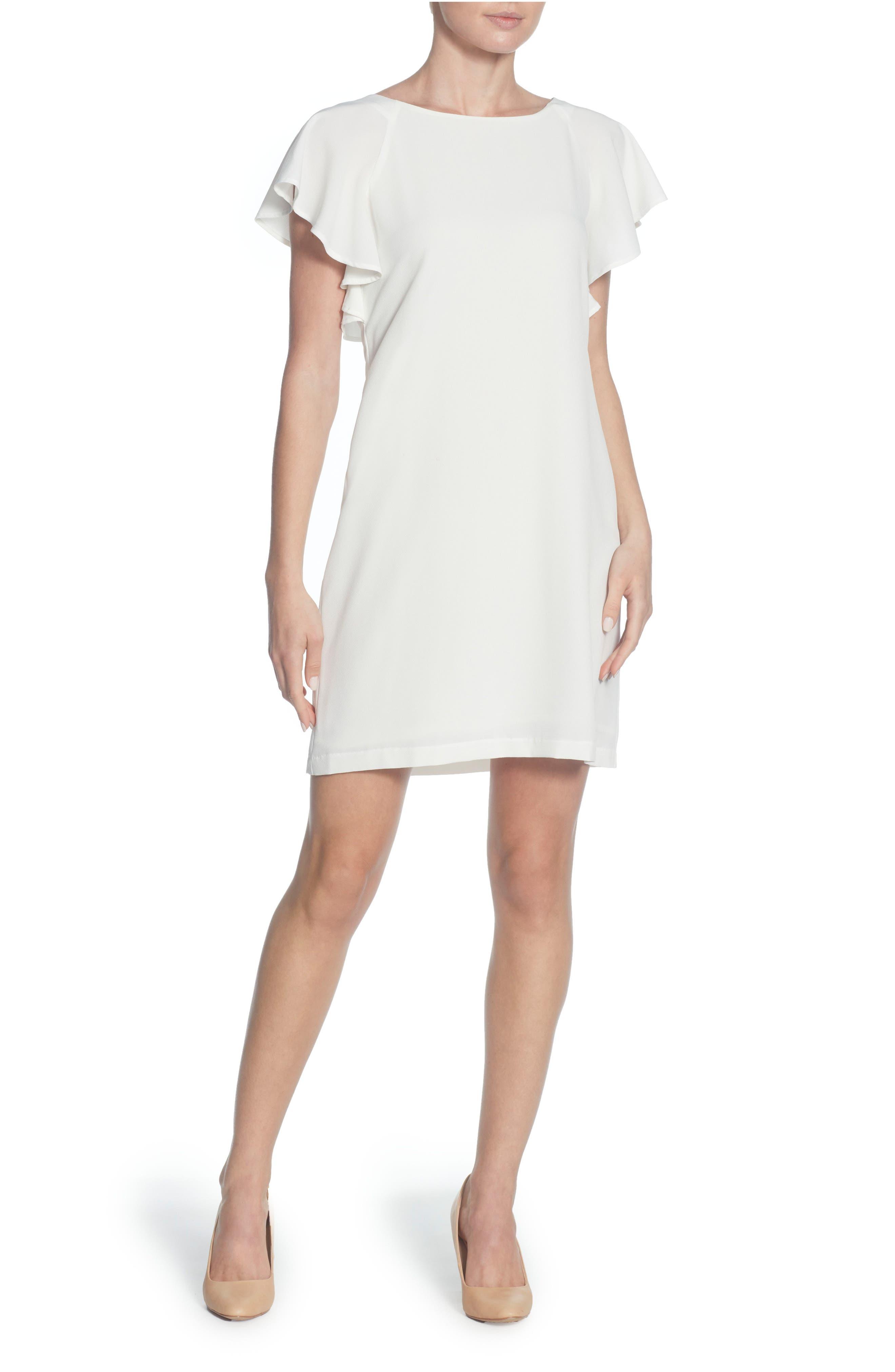 Daiva Shift Dress,                             Main thumbnail 1, color,                             Bright White