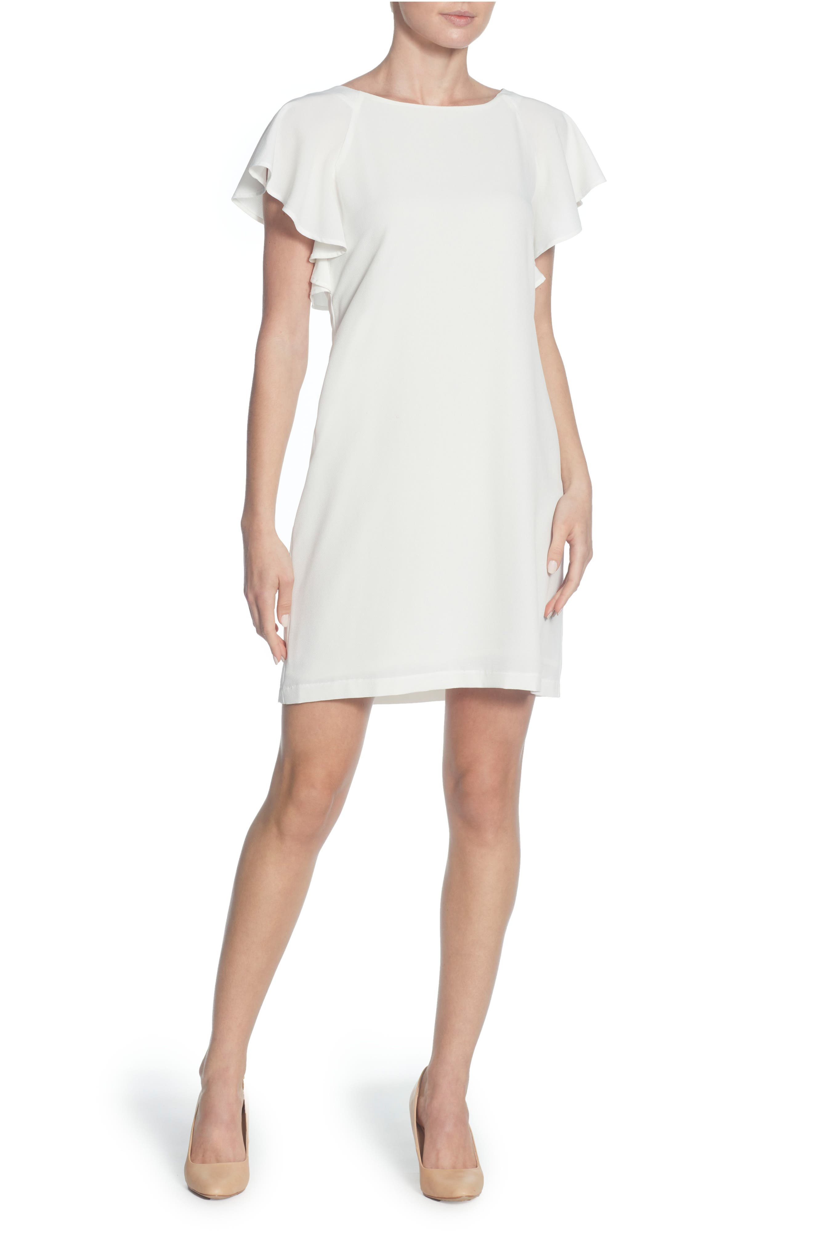 Daiva Shift Dress,                         Main,                         color, Bright White