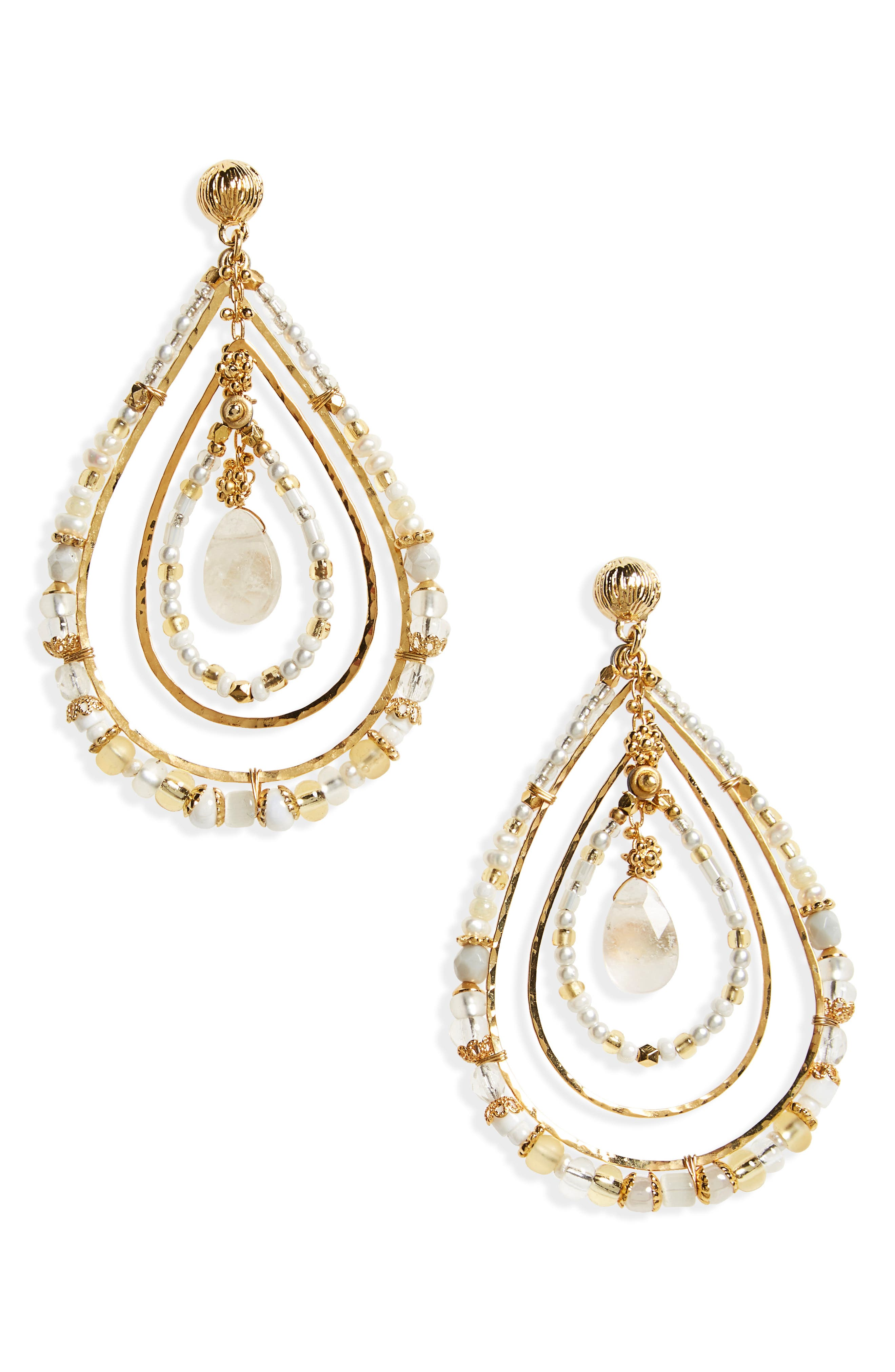 Alternate Image 1 Selected - Gas Bijoux Aurore Beaded Teardrop Earrings