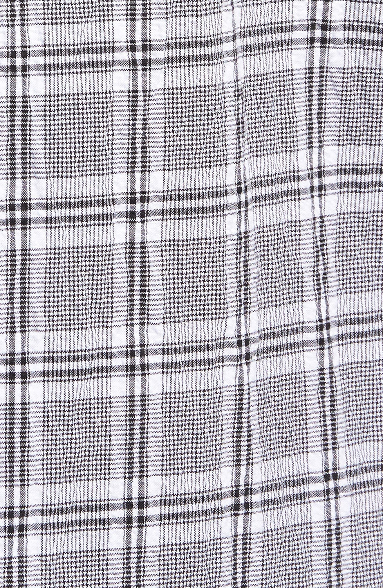 Alternate Image 5  - Vince Camuto Slim Fit Plaid Seersucker Sport Shirt