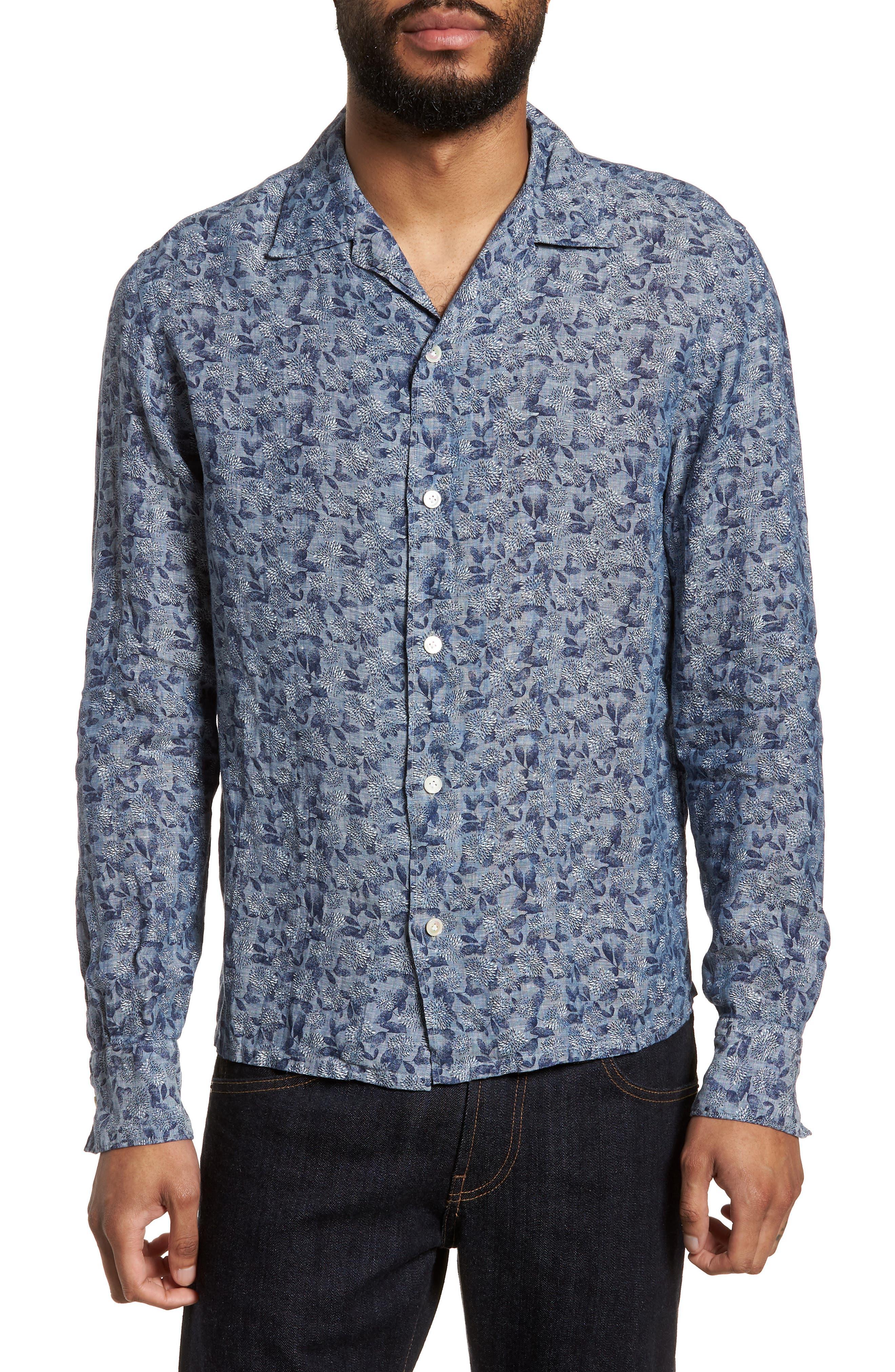 Eleventy Trim Fit Floral Shirt