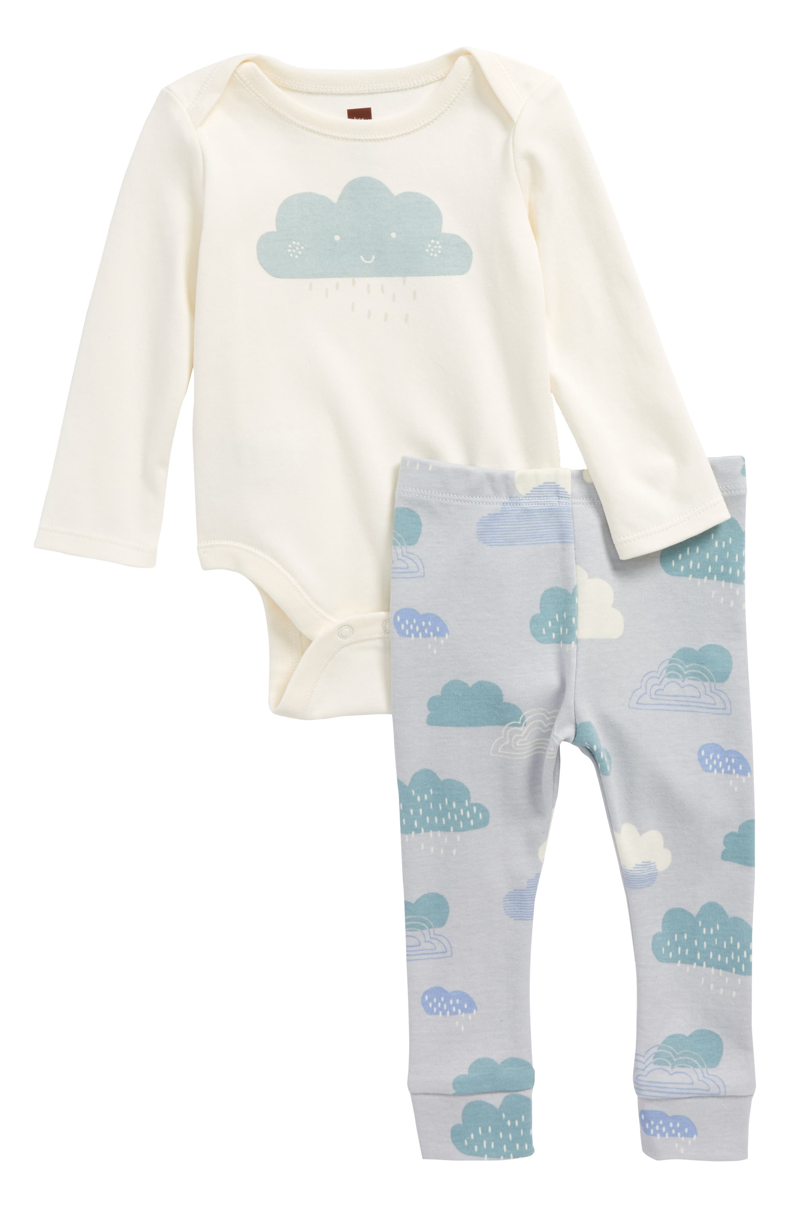 Bodysuit & Pants Set,                         Main,                         color, Chalk