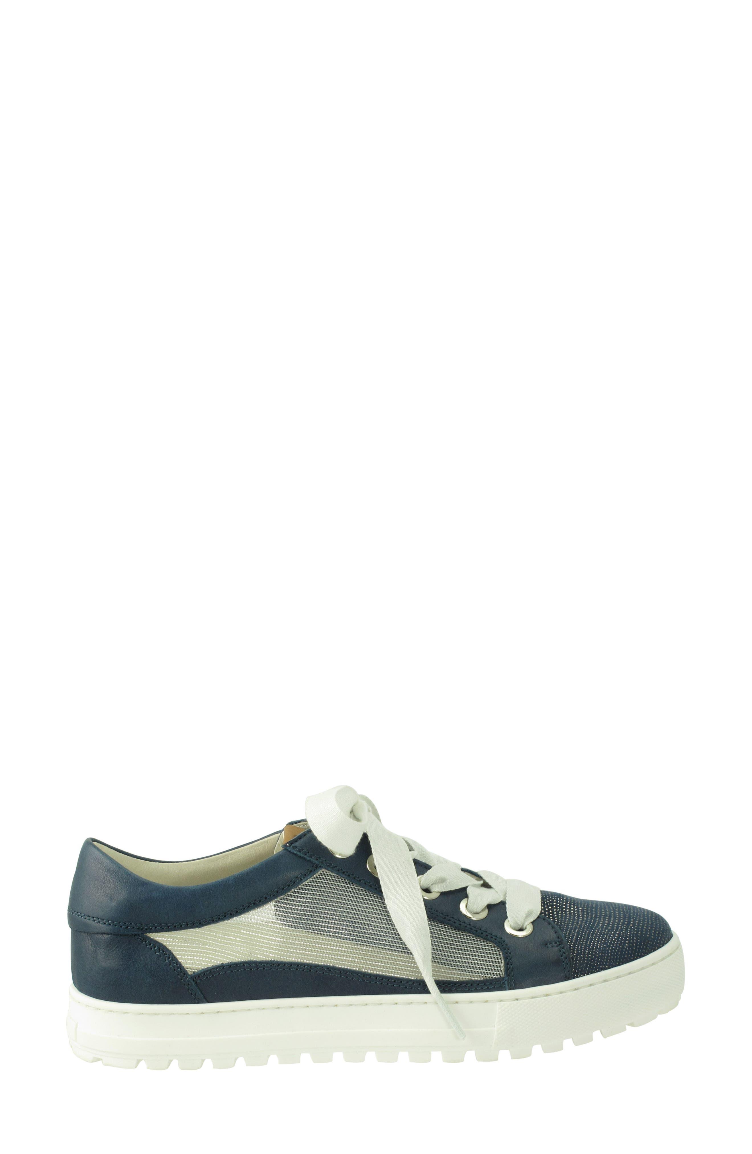 Layton Sneaker,                             Alternate thumbnail 3, color,                             Jeans Leather