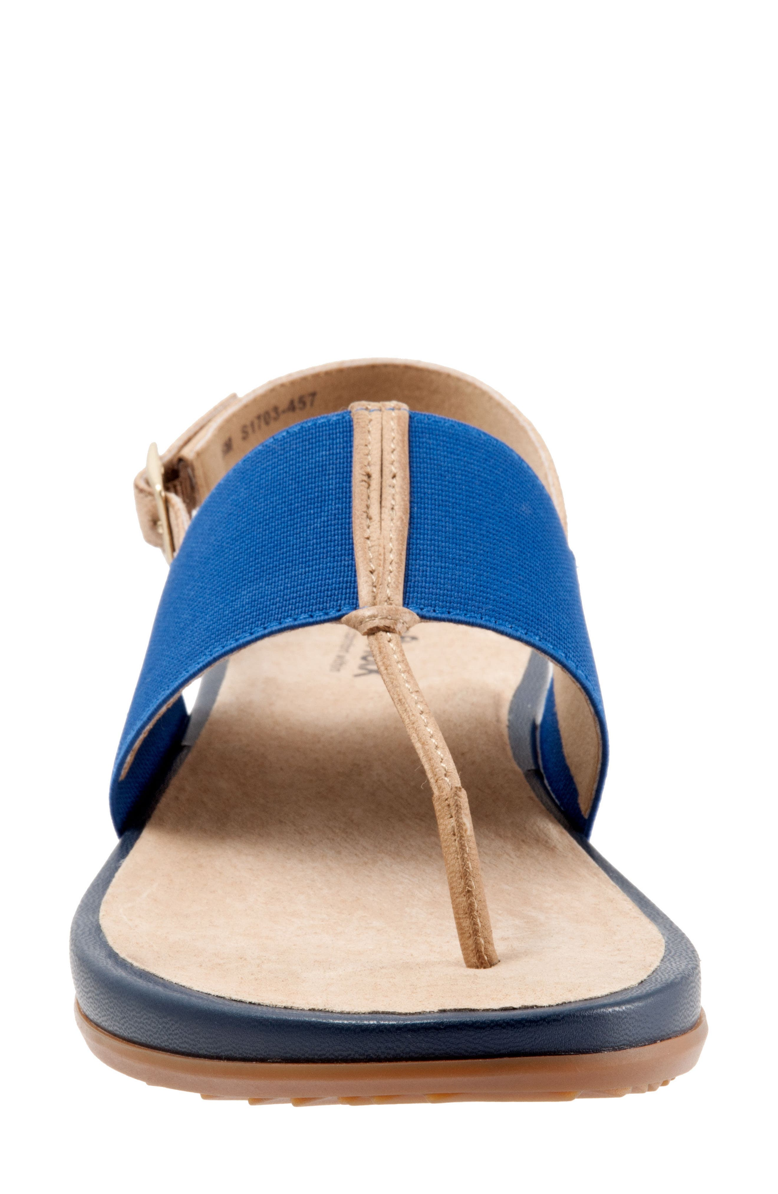 Daytona Sandal,                             Alternate thumbnail 4, color,                             Navy/ Tan Leather