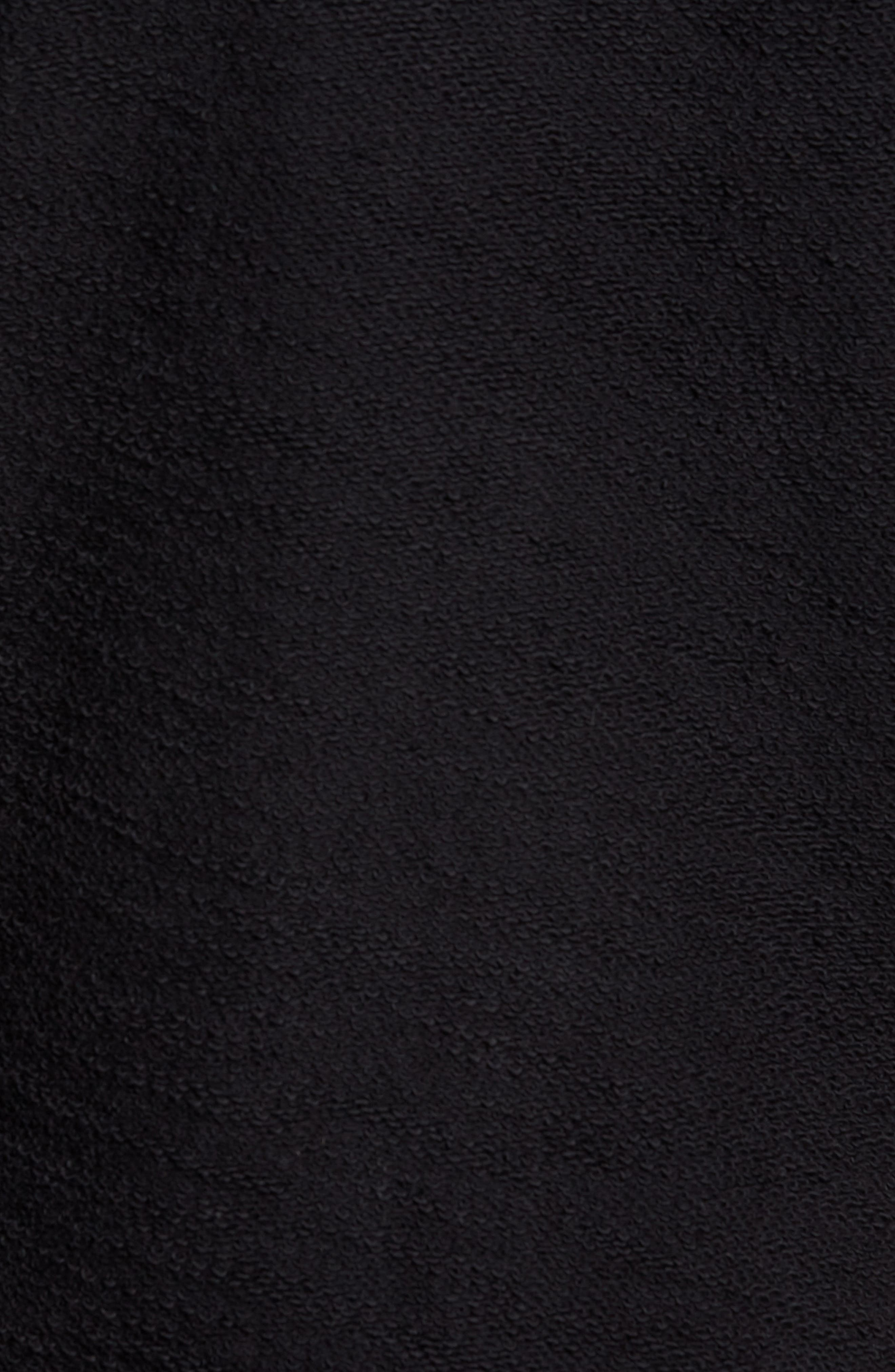 Terrycloth Cotton Blend Zip Hoodie,                             Alternate thumbnail 5, color,                             Black