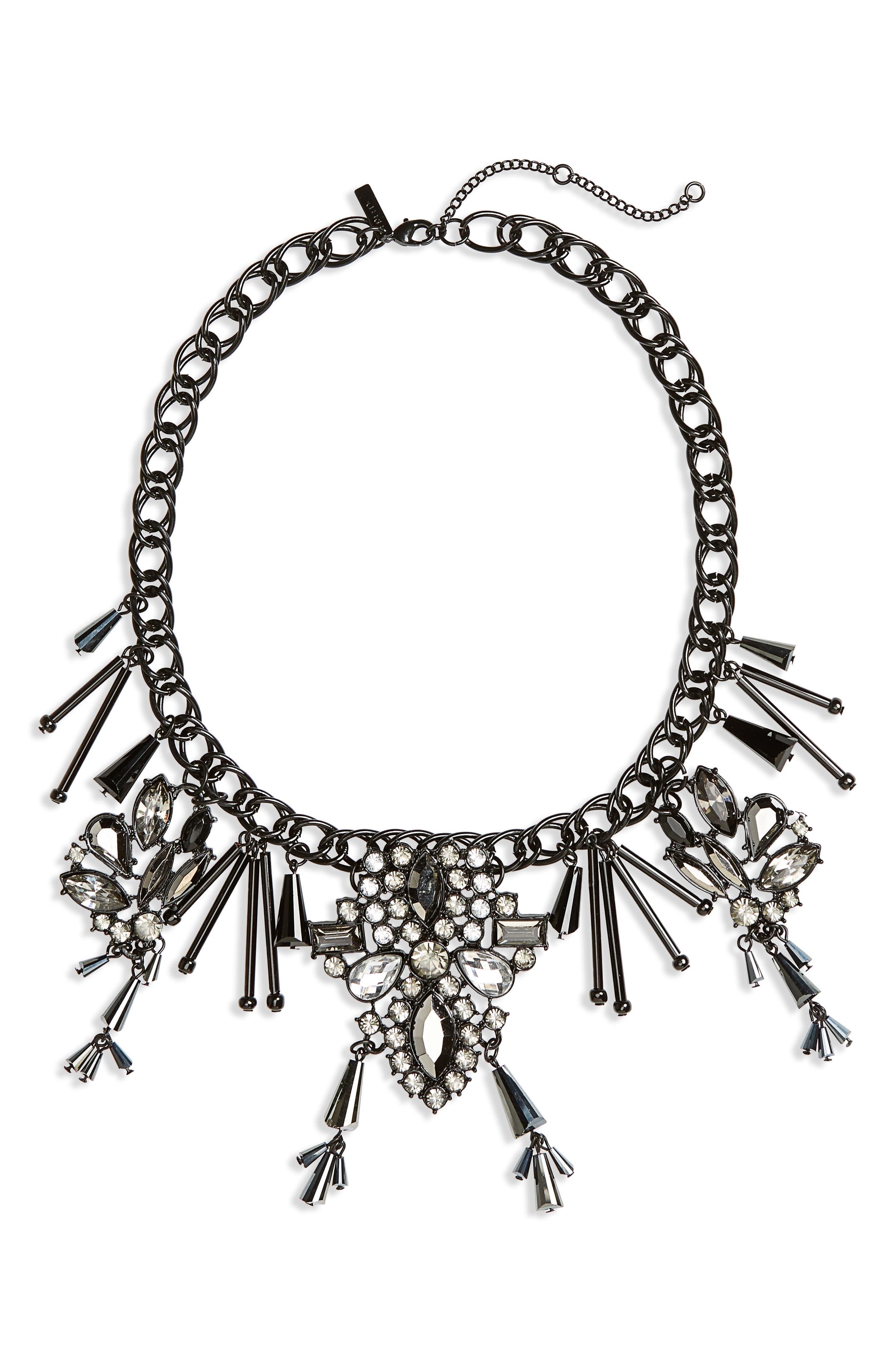 Black Magic Collar Necklace,                             Main thumbnail 1, color,                             Black Multi