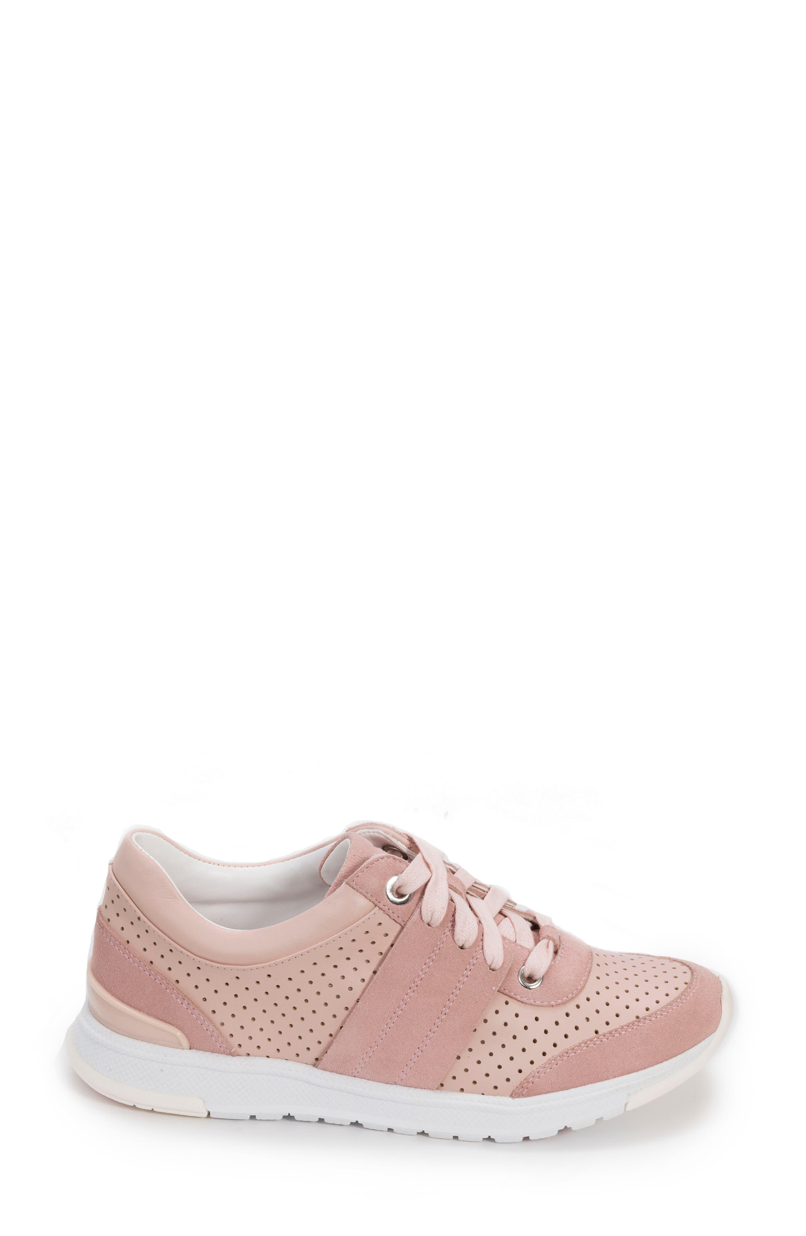 Bea Sneaker,                             Alternate thumbnail 3, color,                             Blush Leather