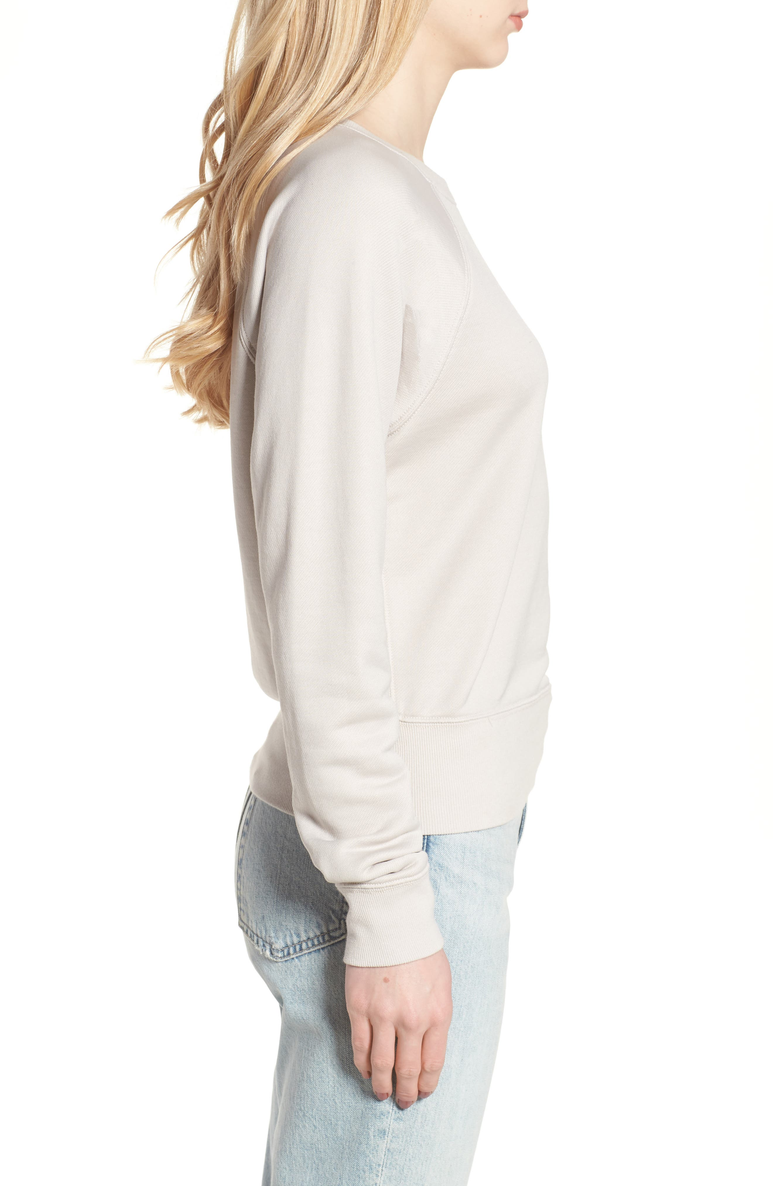Alternate Image 3  - James Perse Shrunken Fleece Sweatshirt