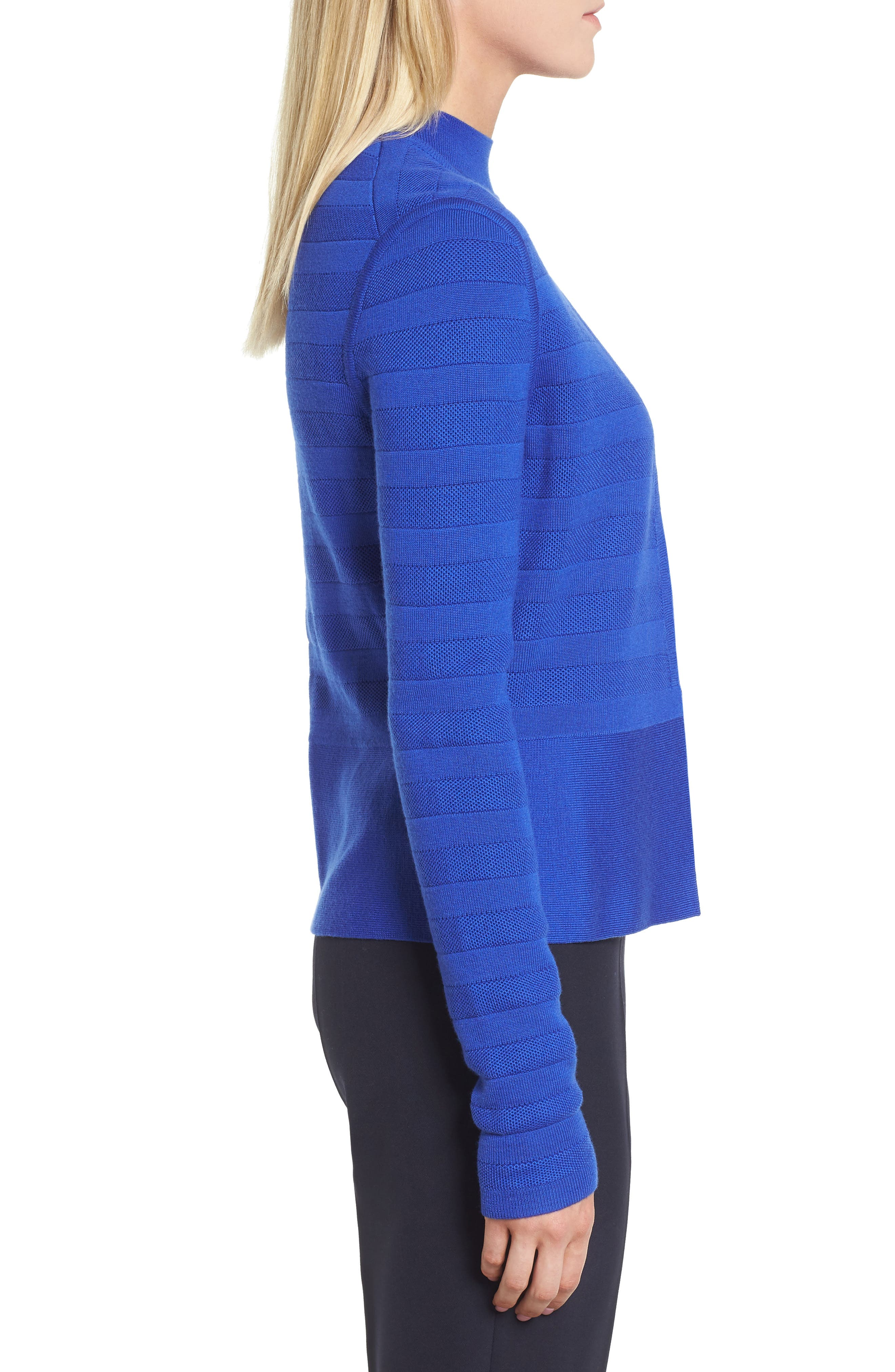 Farlotte Wool Cardigan,                             Alternate thumbnail 3, color,                             Sailor Blue
