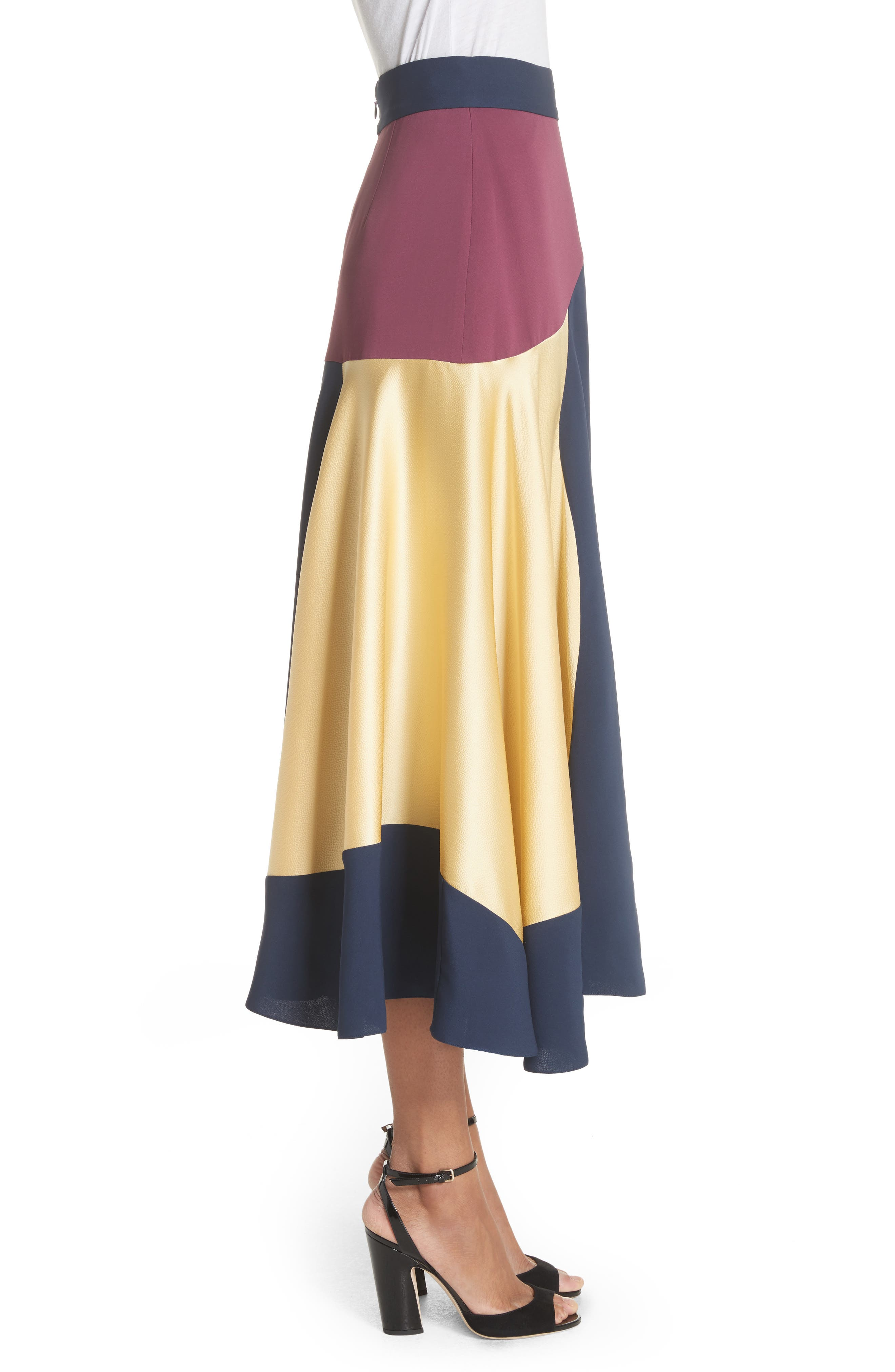 Rania Skirt,                             Alternate thumbnail 3, color,                             Sorbet/ Plum/ Navy