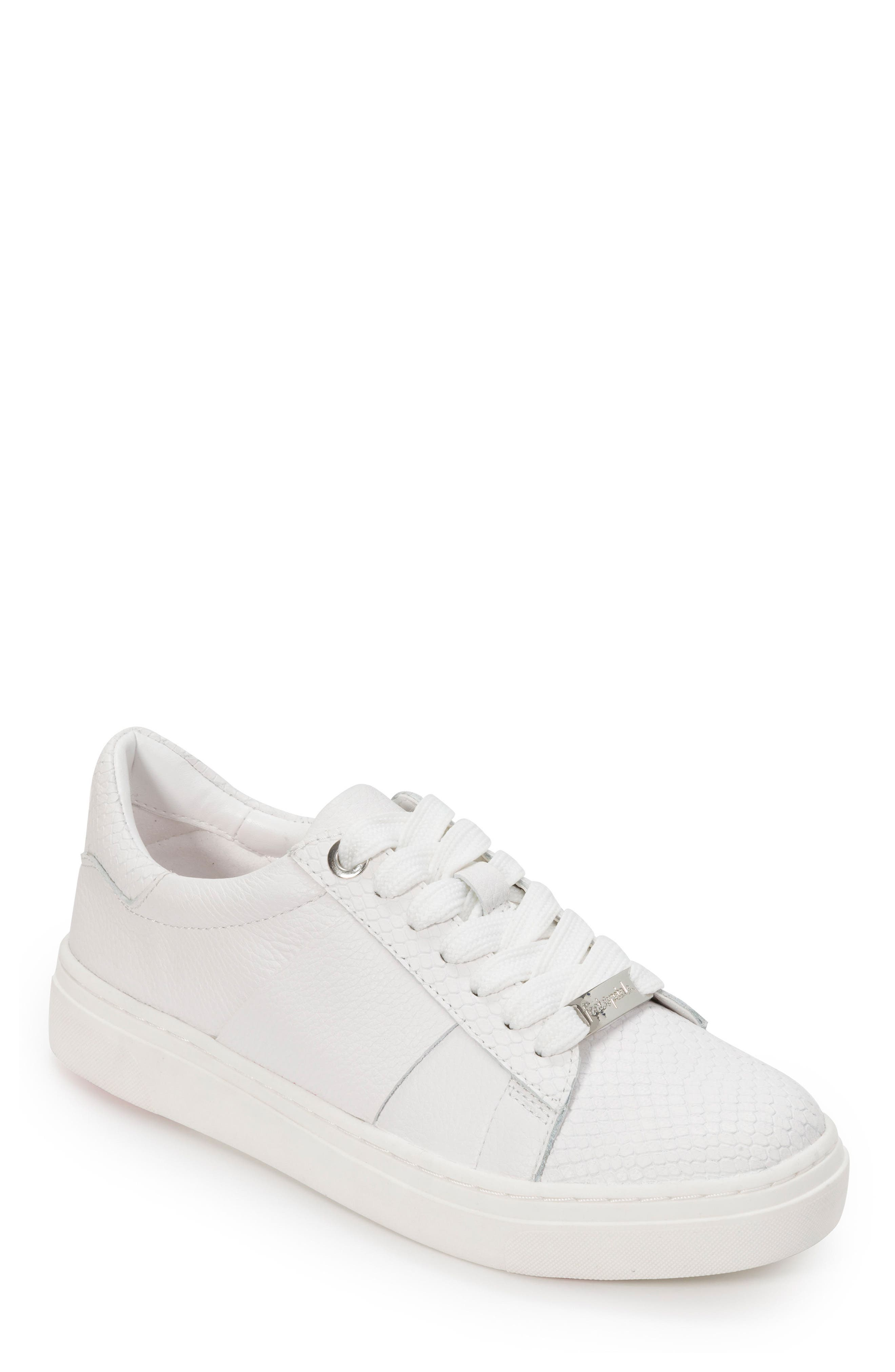FOOT PETALS Fallon Sneaker in White Leather