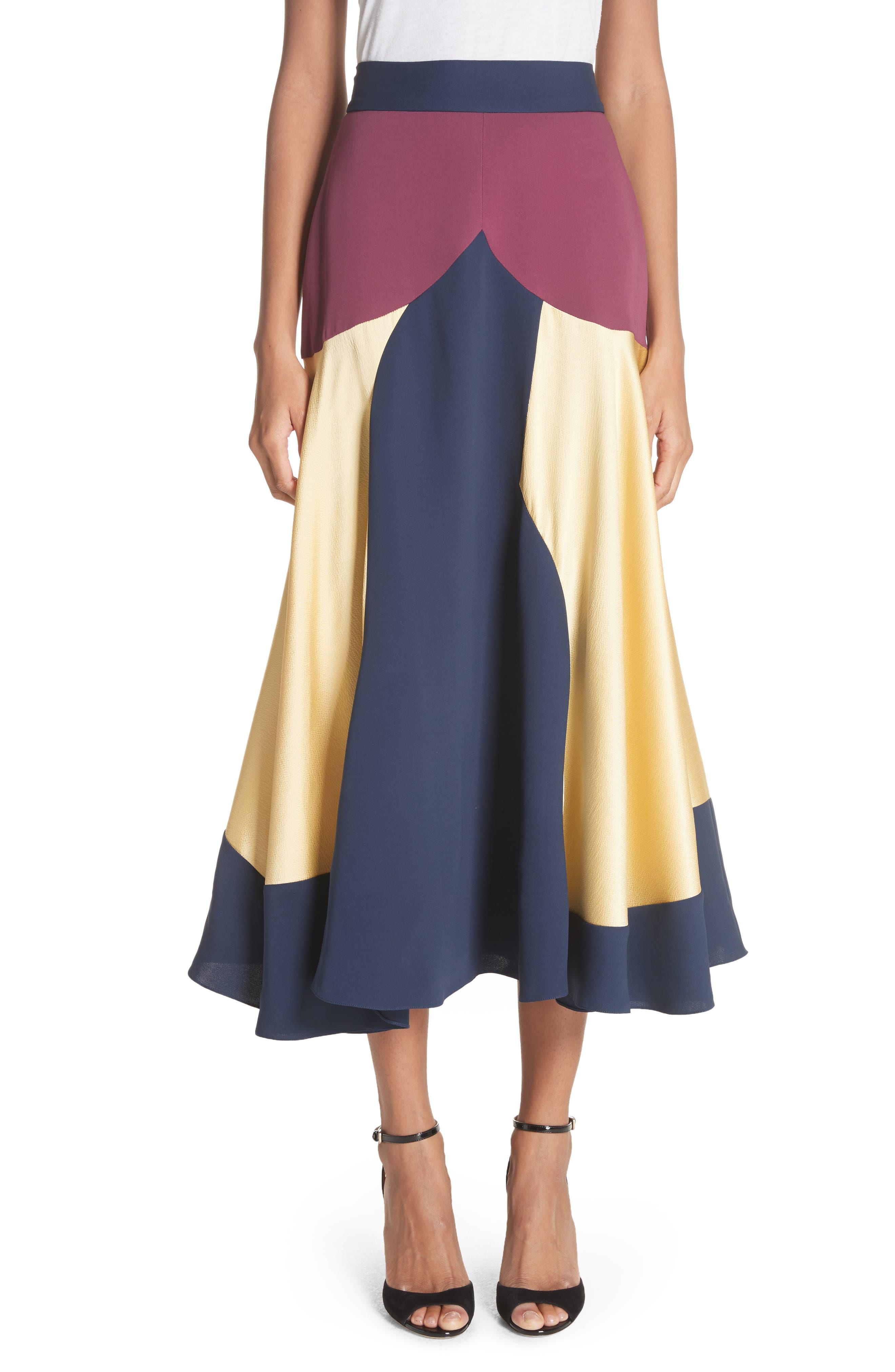 Rania Skirt,                         Main,                         color, Sorbet/ Plum/ Navy