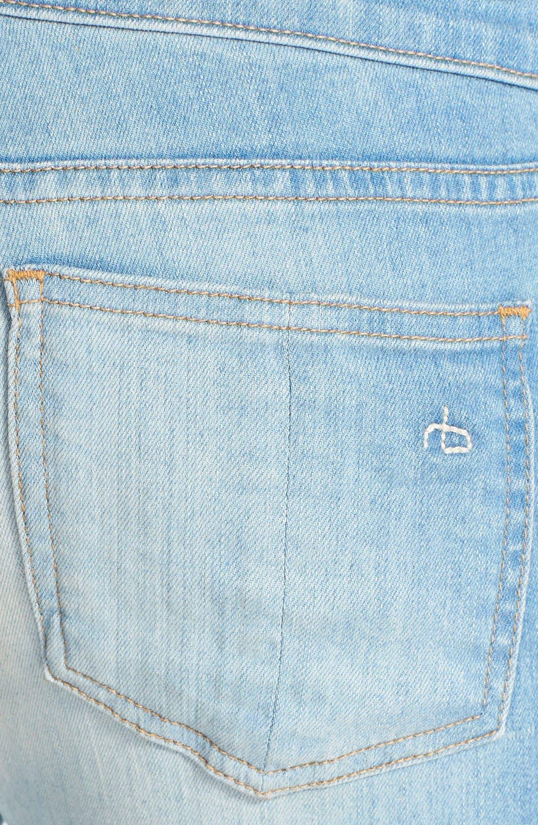 Alternate Image 3  - rag & bone/JEAN Low Rise Crop Skinny Jeans