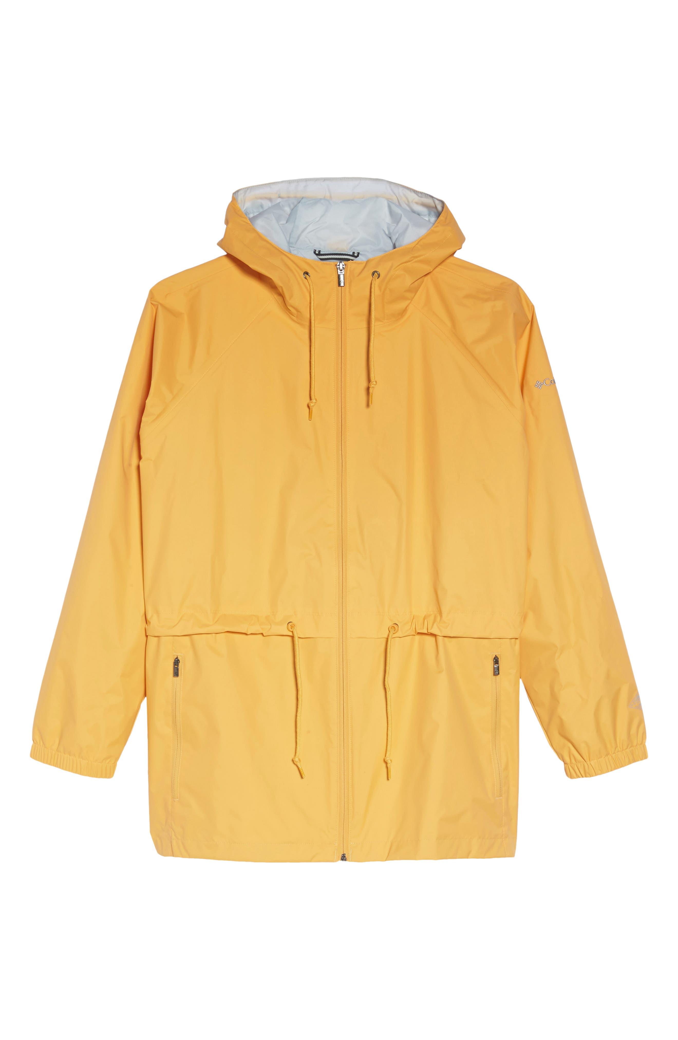 'Arcadia' Hooded Waterproof Casual Jacket,                             Alternate thumbnail 6, color,                             Yellow Ray Cirrus Grey
