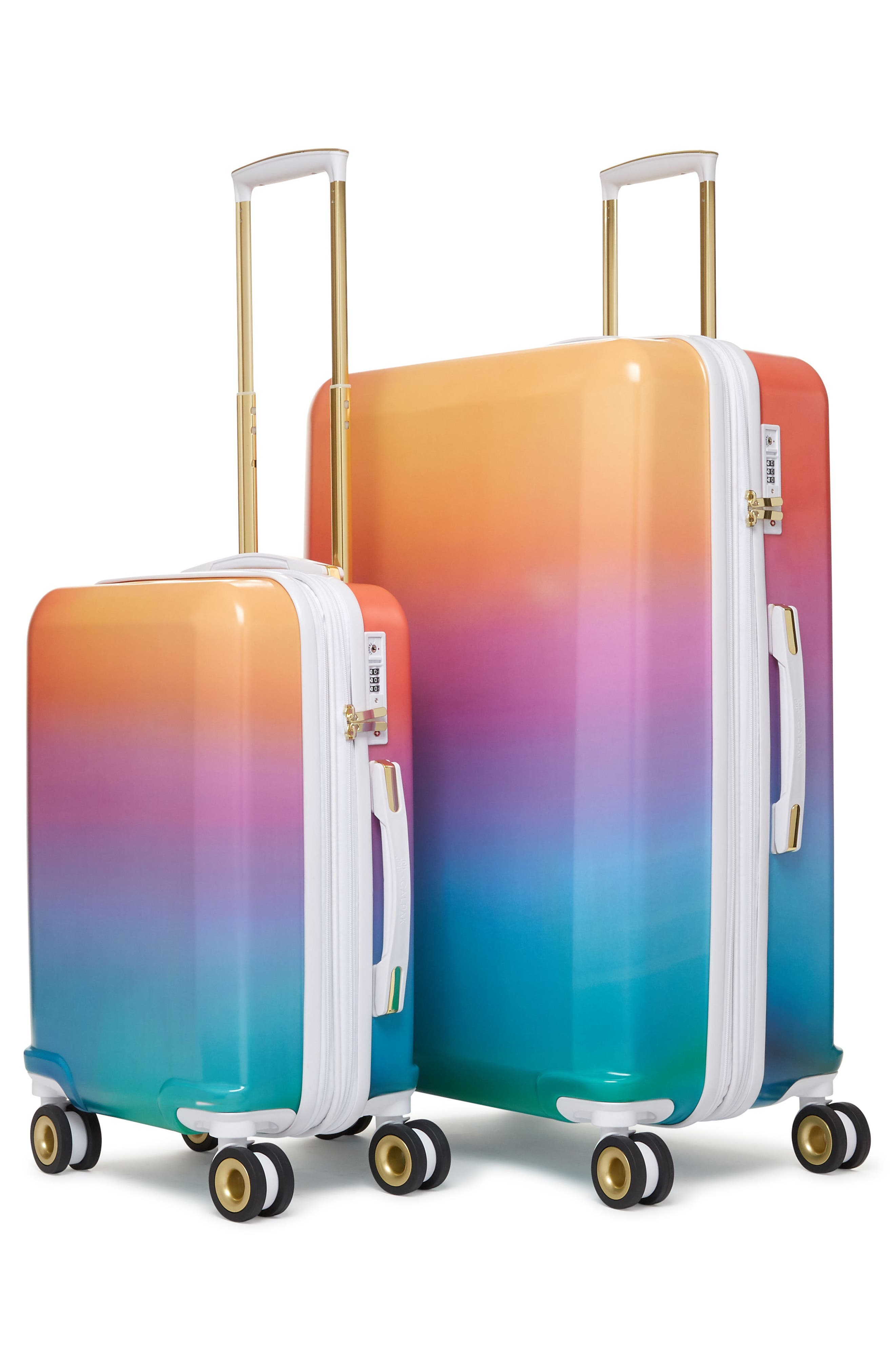 x Oh Joy! 28-Inch & 20-Inch Hardshell Spinner Suitcase & Carry-On Set,                             Alternate thumbnail 4, color,                             Sunset