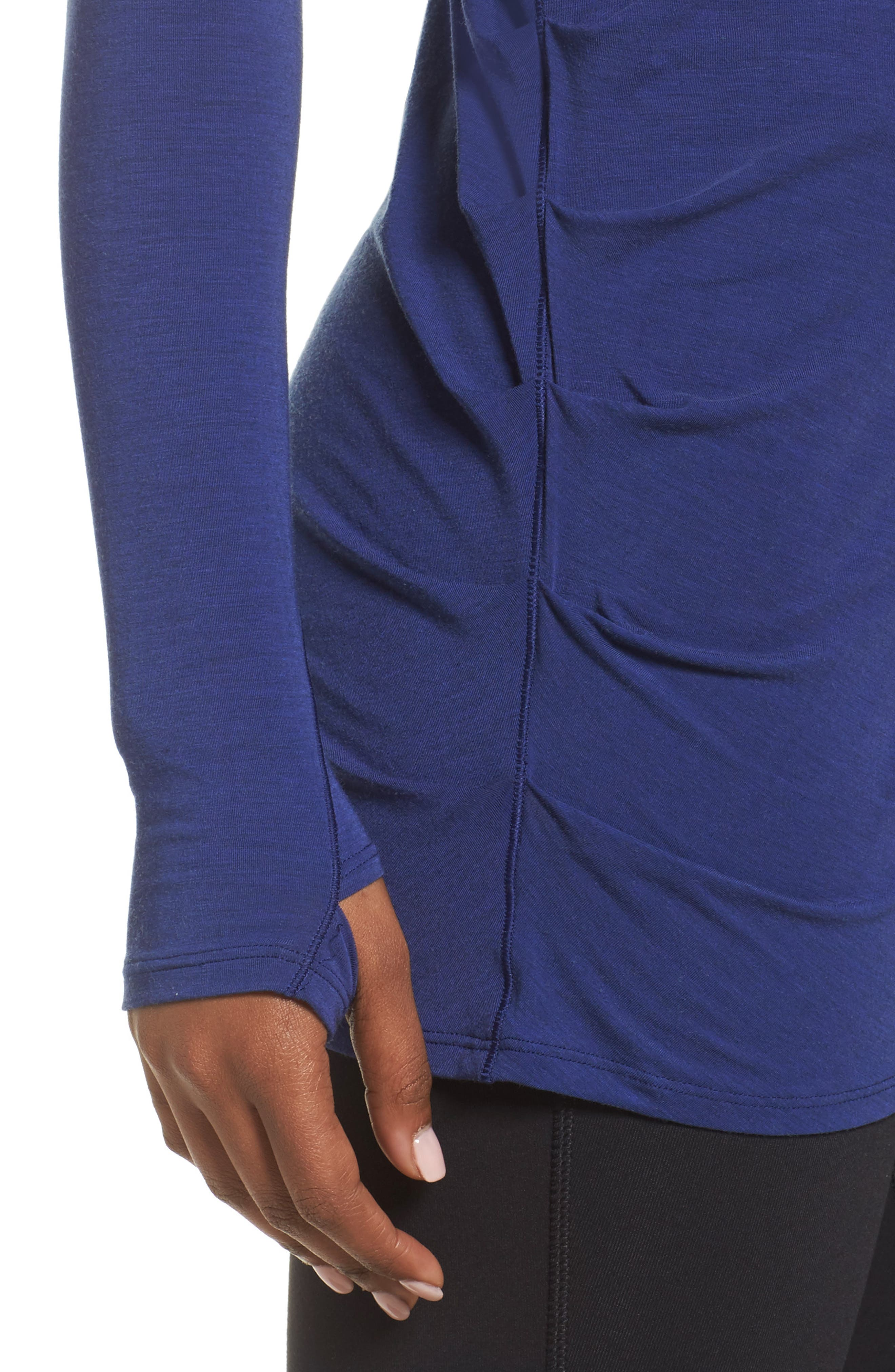 Long Sleeve Layering Tee,                             Alternate thumbnail 4, color,                             Tempest Heather