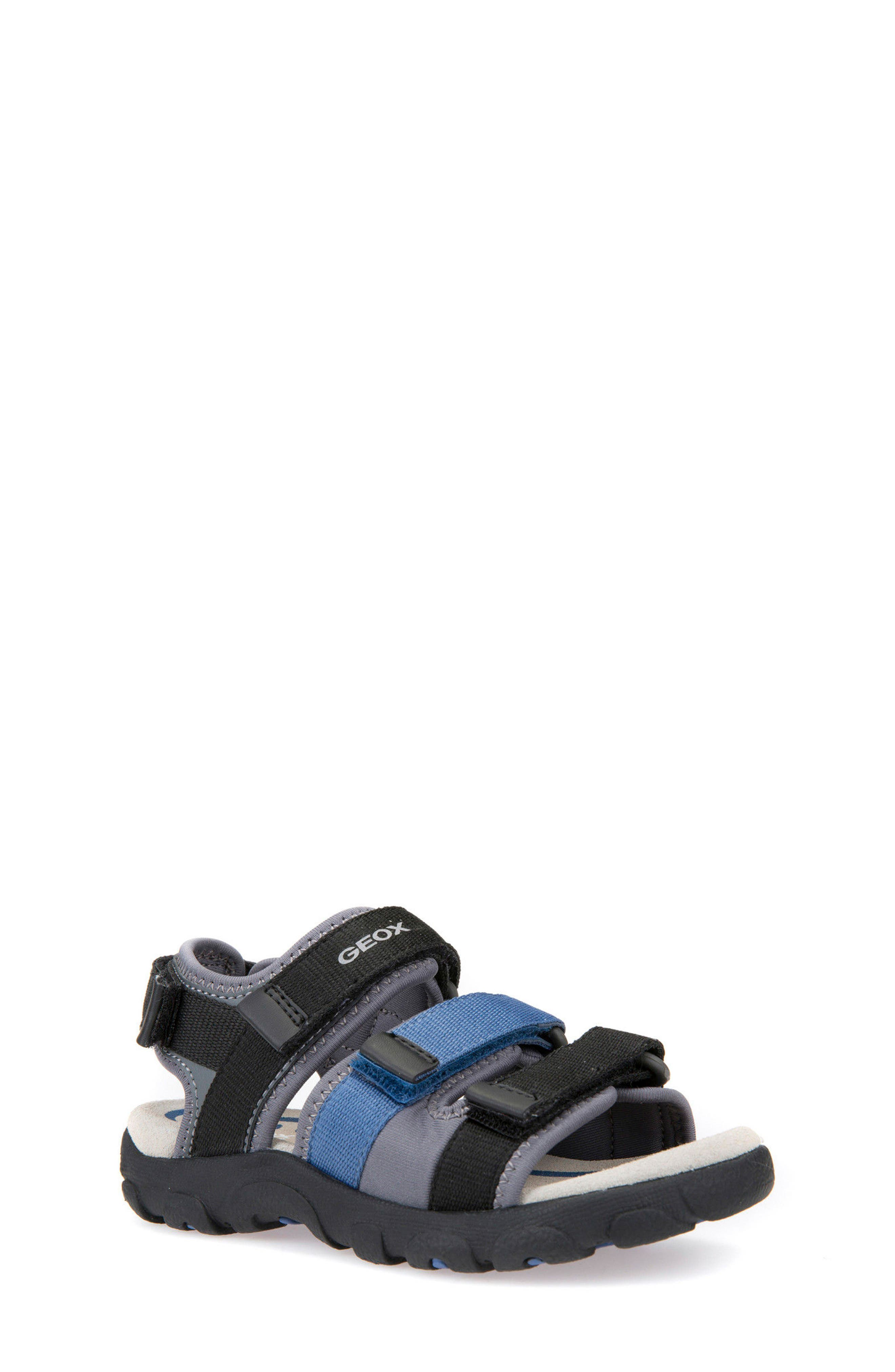 Strada Sandal,                             Main thumbnail 1, color,                             Black/ Blue
