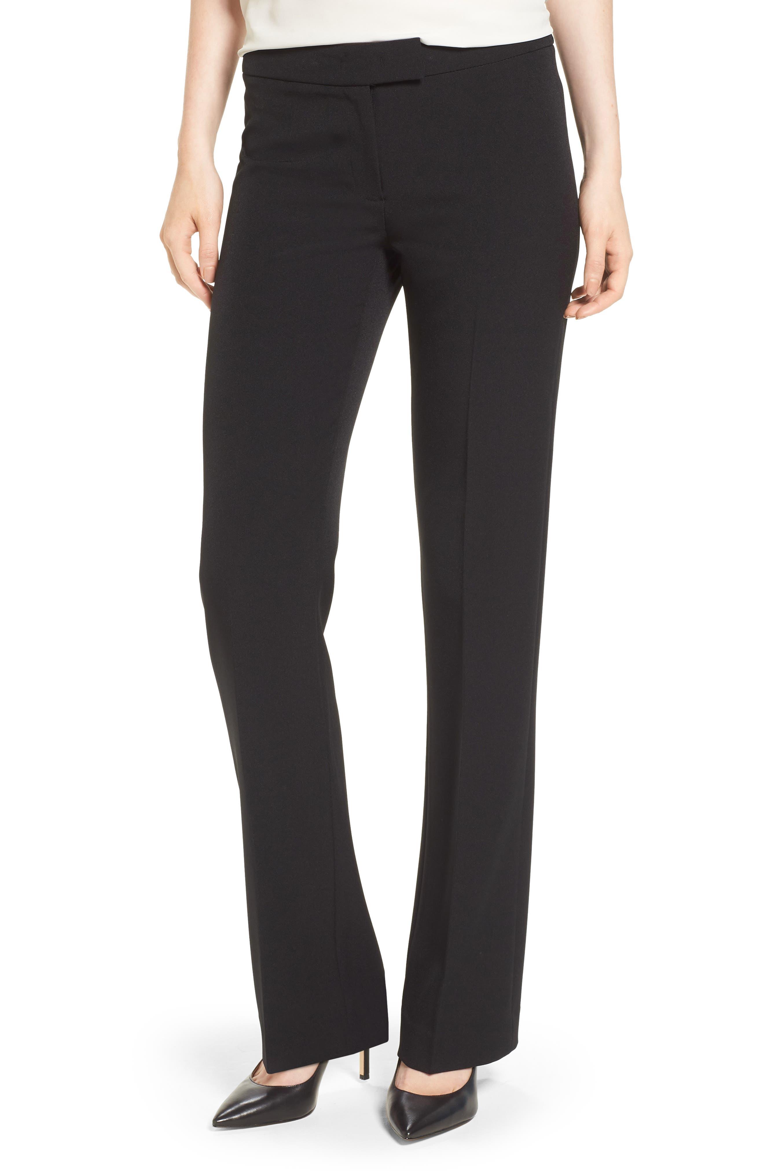 Flare Leg Pants,                         Main,                         color, Black