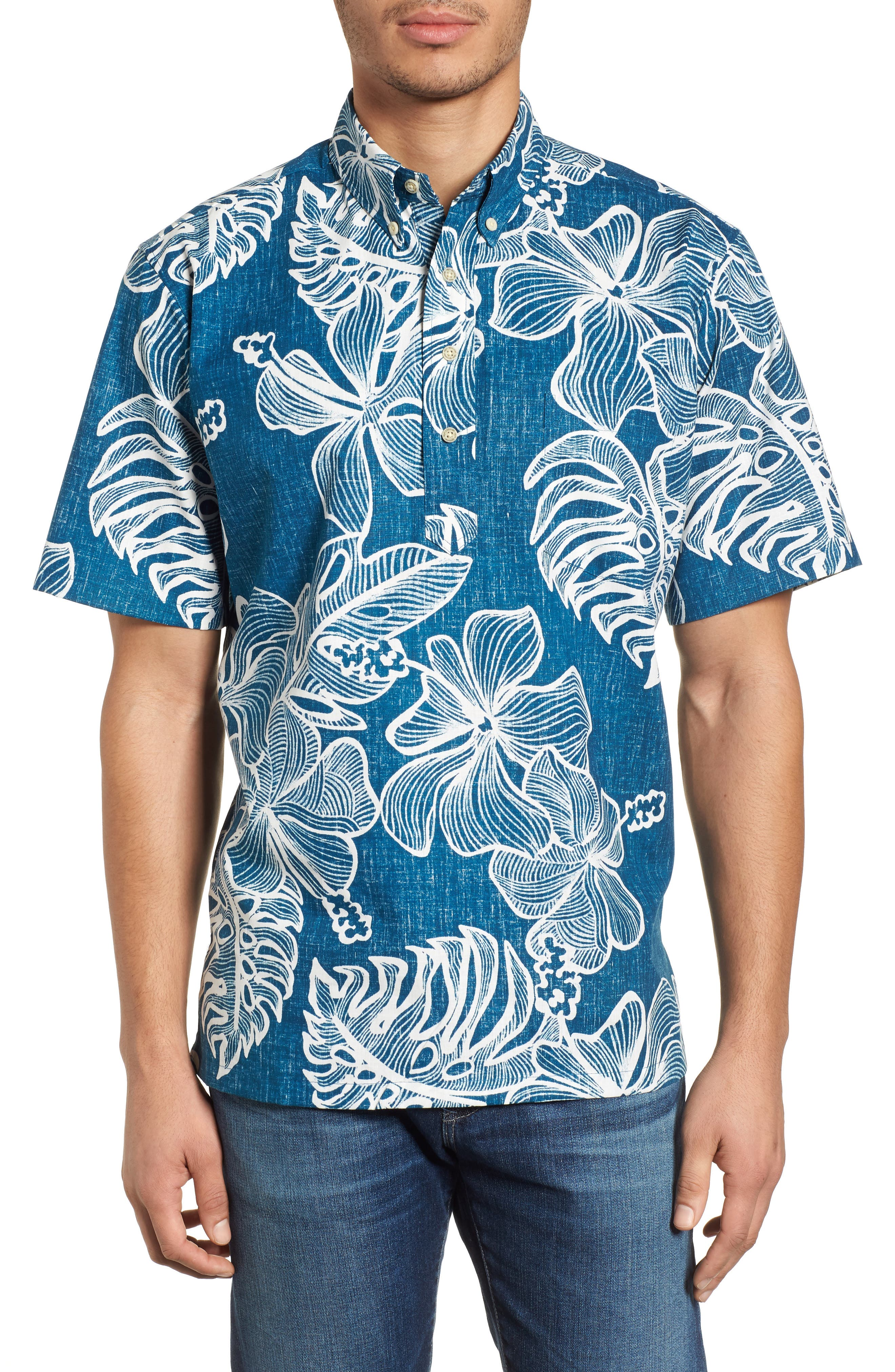 Reyn Spooner Mauna Monstera Button Down Polo