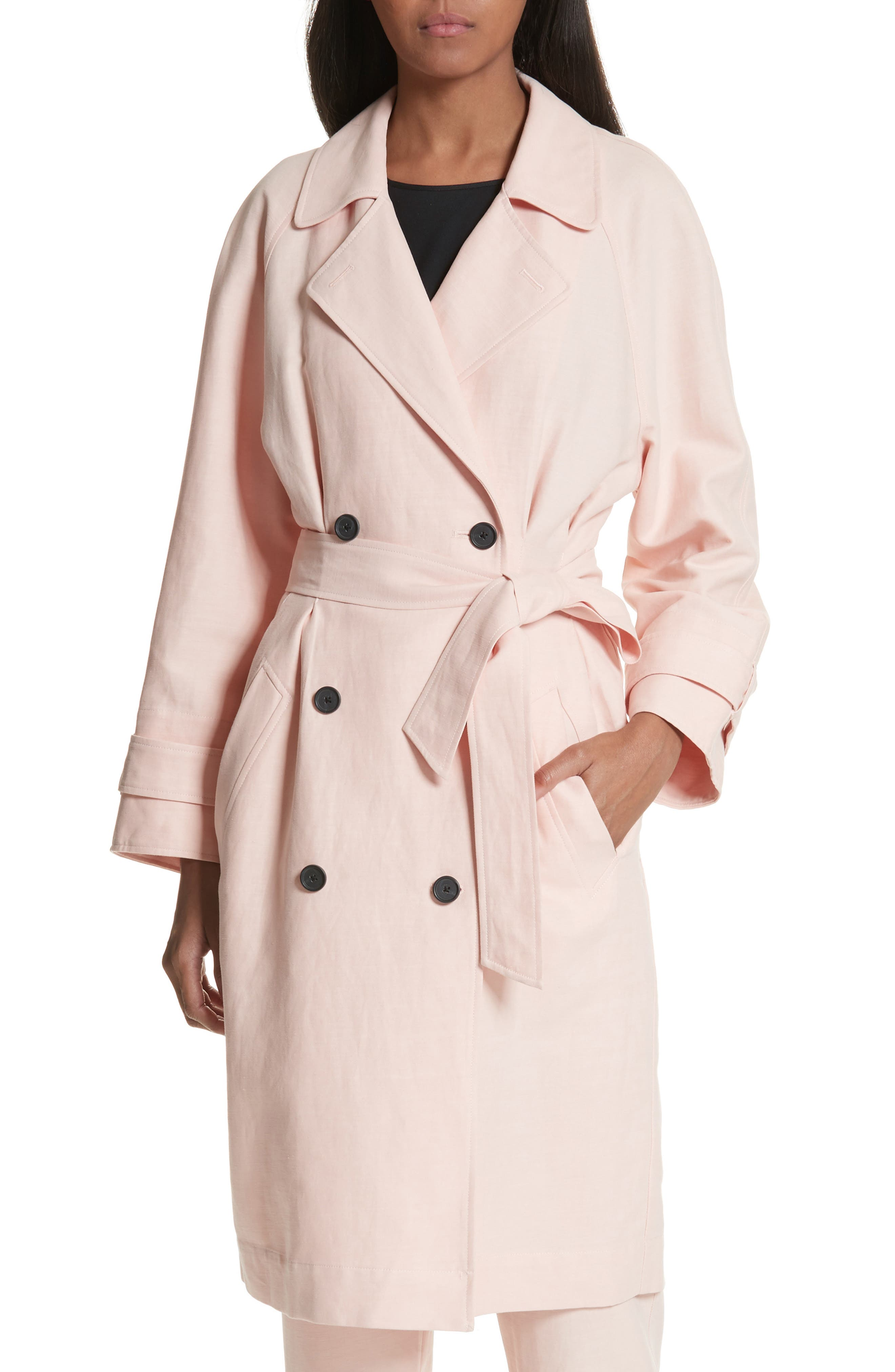 Damonica Trench Coat,                             Alternate thumbnail 7, color,                             Washed Rose