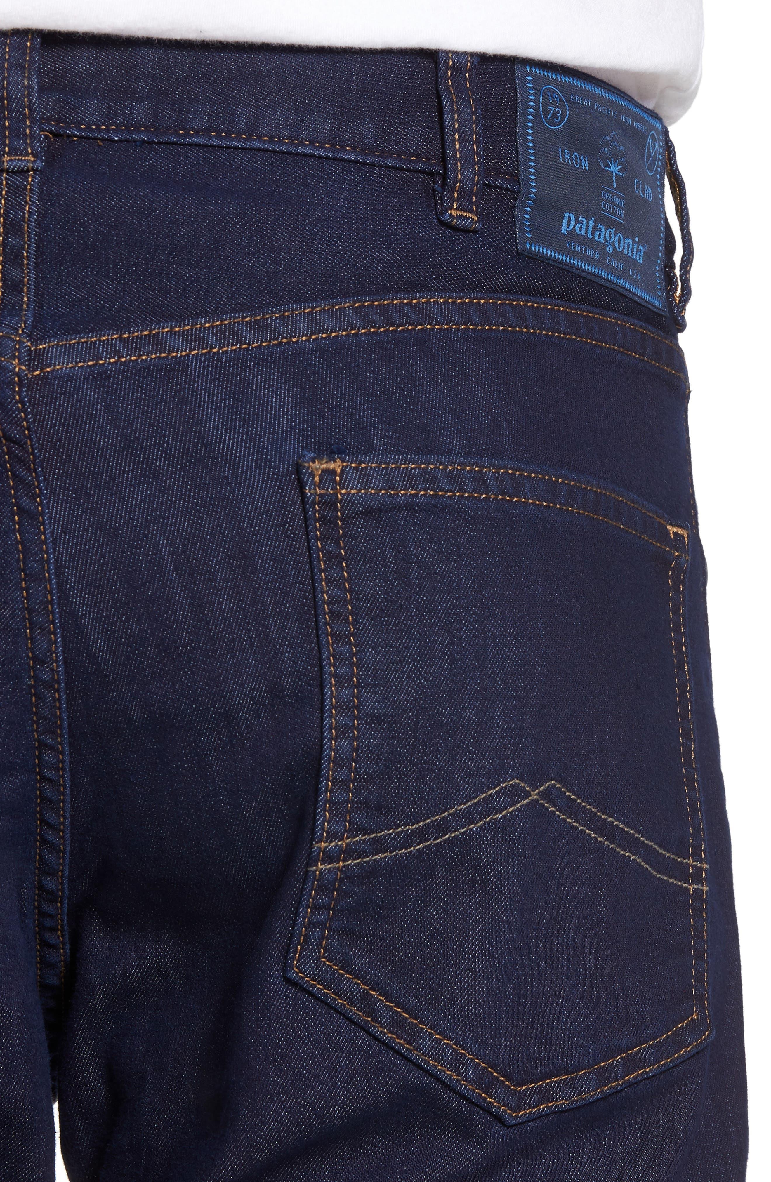 Straight Leg Performance Jeans,                             Alternate thumbnail 4, color,                             Dark Denim