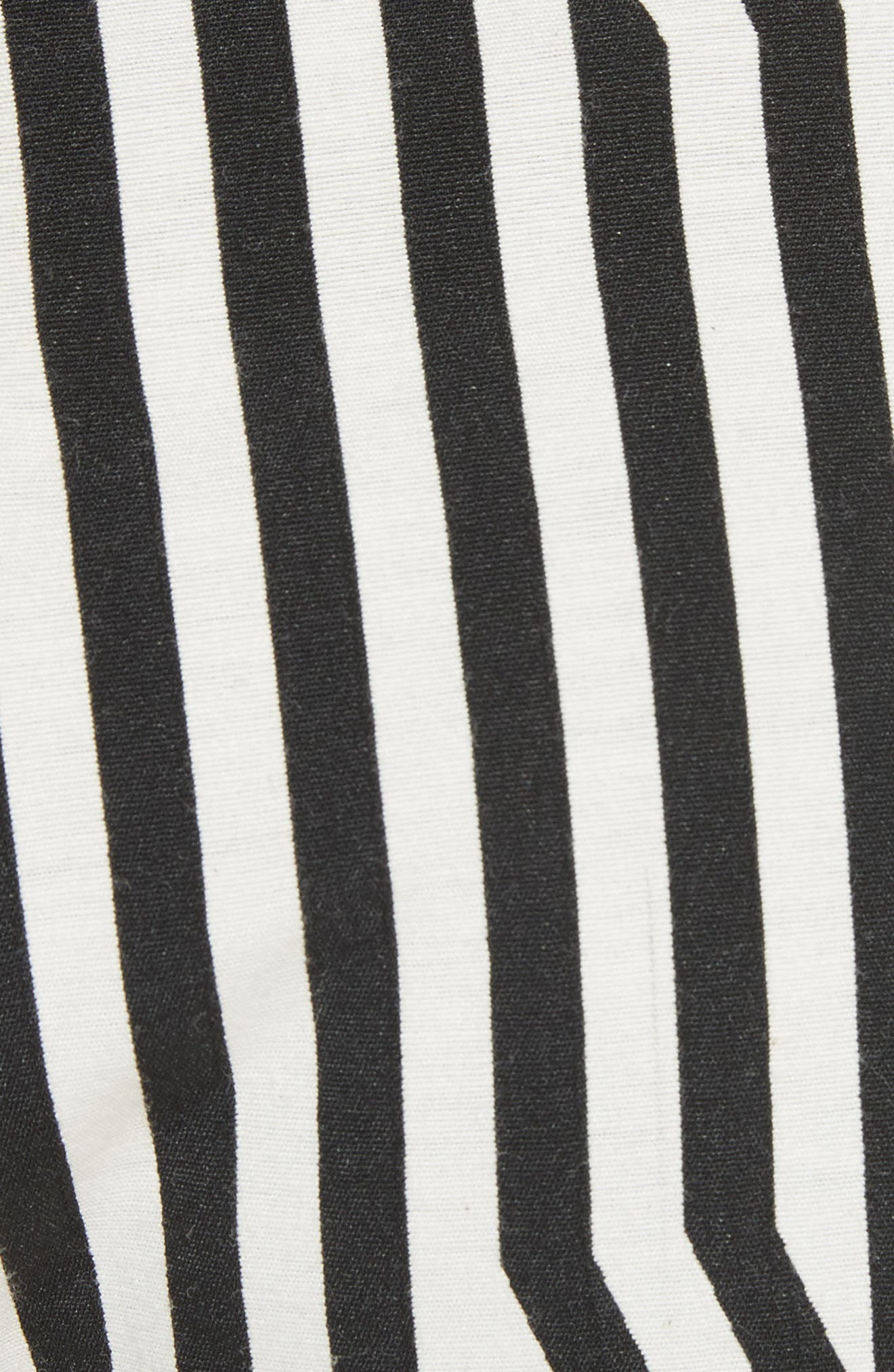Abstract Stripe Lace-Up Shorts,                             Alternate thumbnail 5, color,                             Black/ White