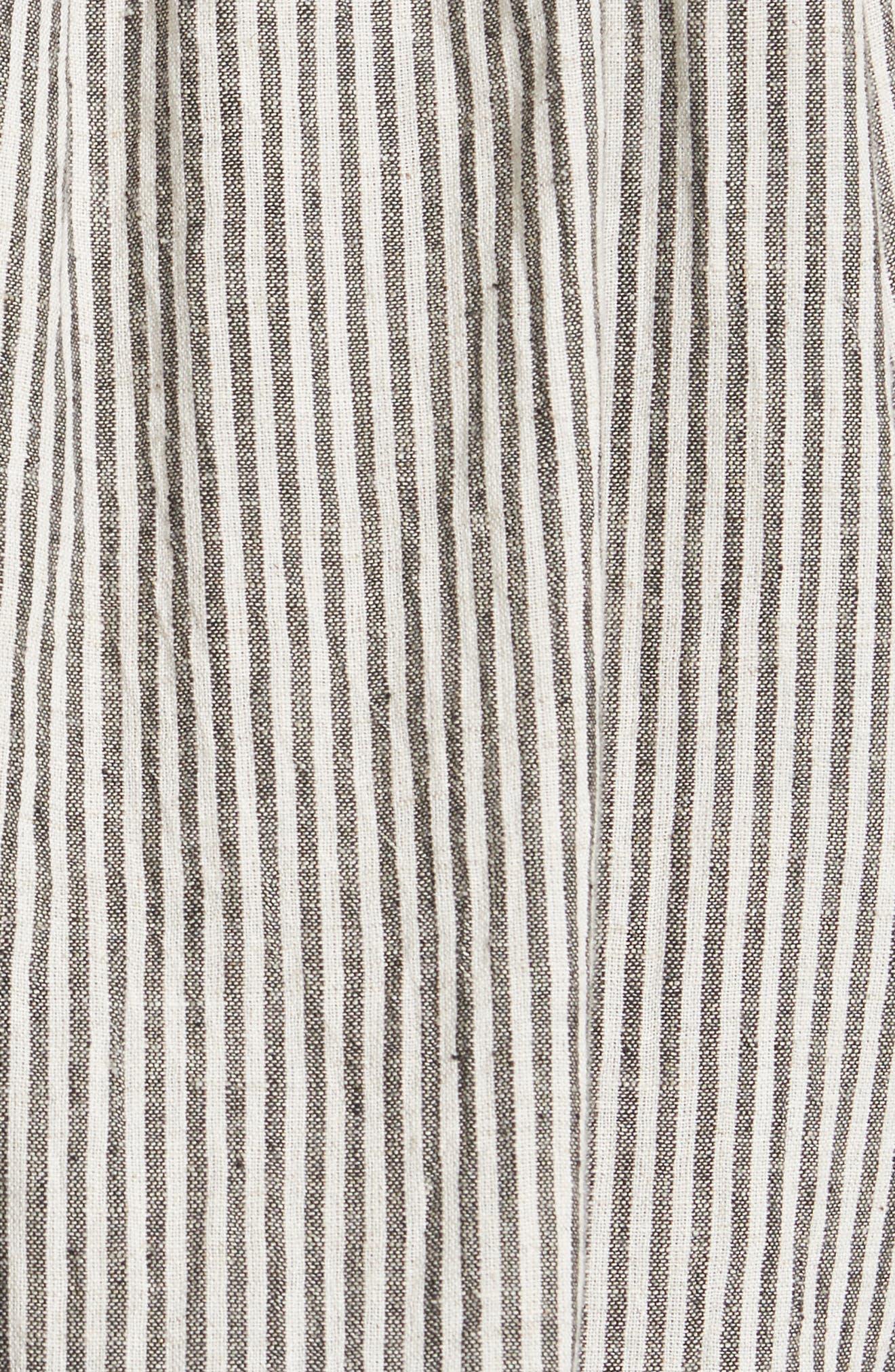 The Vista Cotton & Linen Top,                             Alternate thumbnail 5, color,                             Rail Stripe