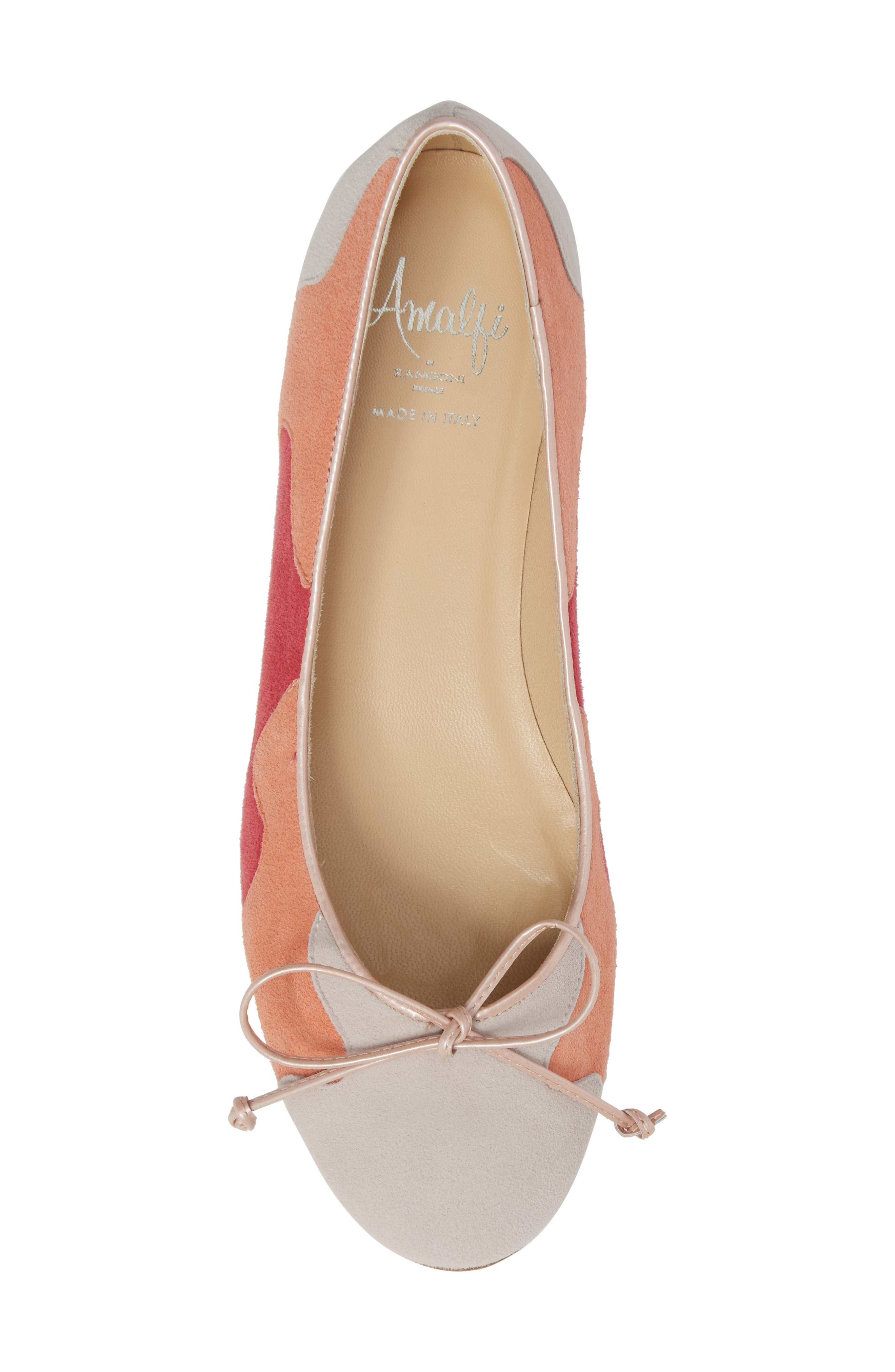 Ginevra Flat,                             Alternate thumbnail 5, color,                             Beige Suede