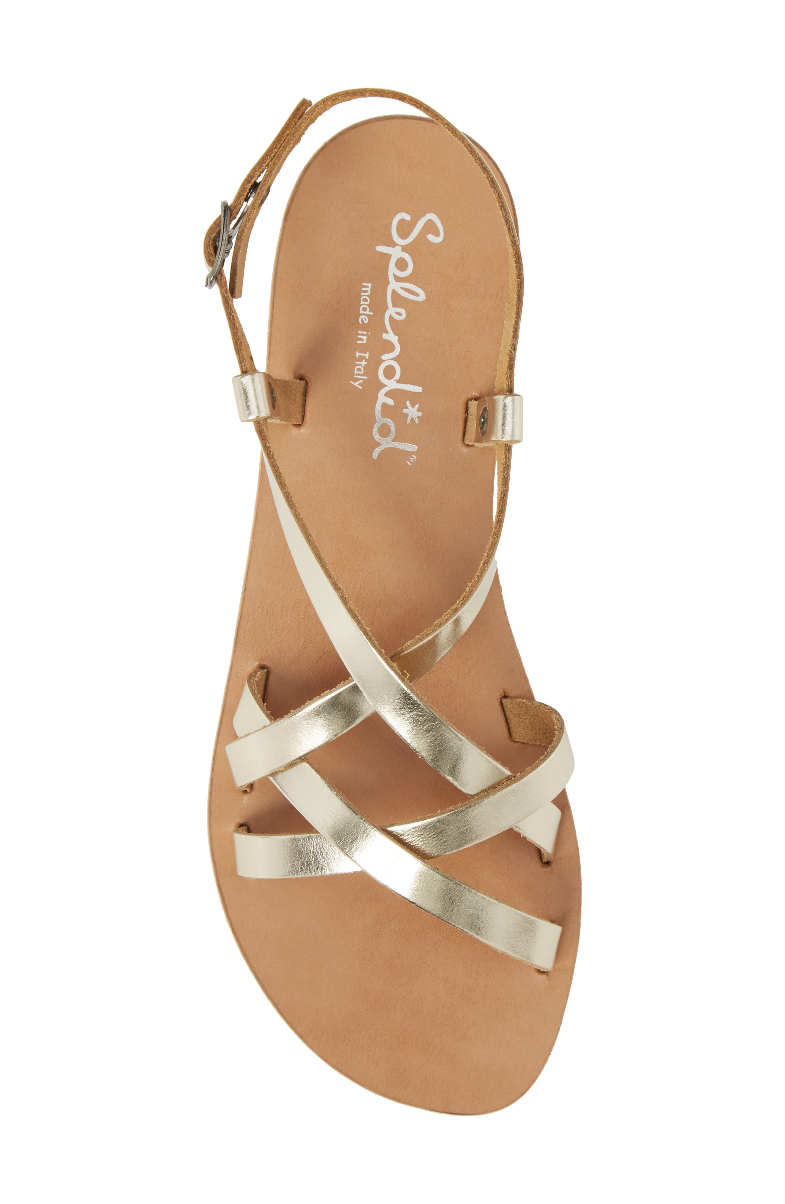 Bowen Sandal,                             Alternate thumbnail 5, color,                             Platino Leather