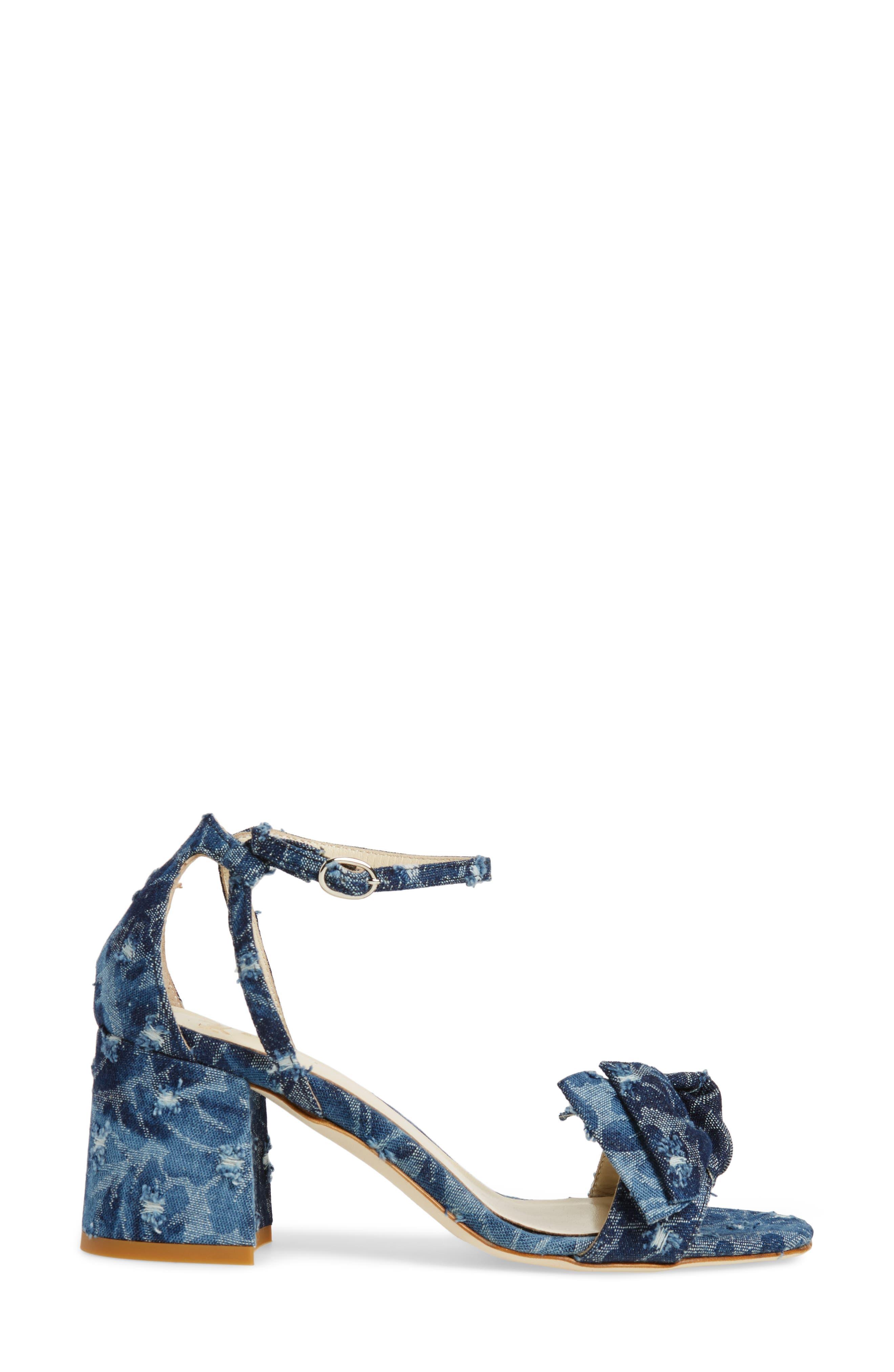 Butter Flower Sandal,                             Alternate thumbnail 3, color,                             Jeans