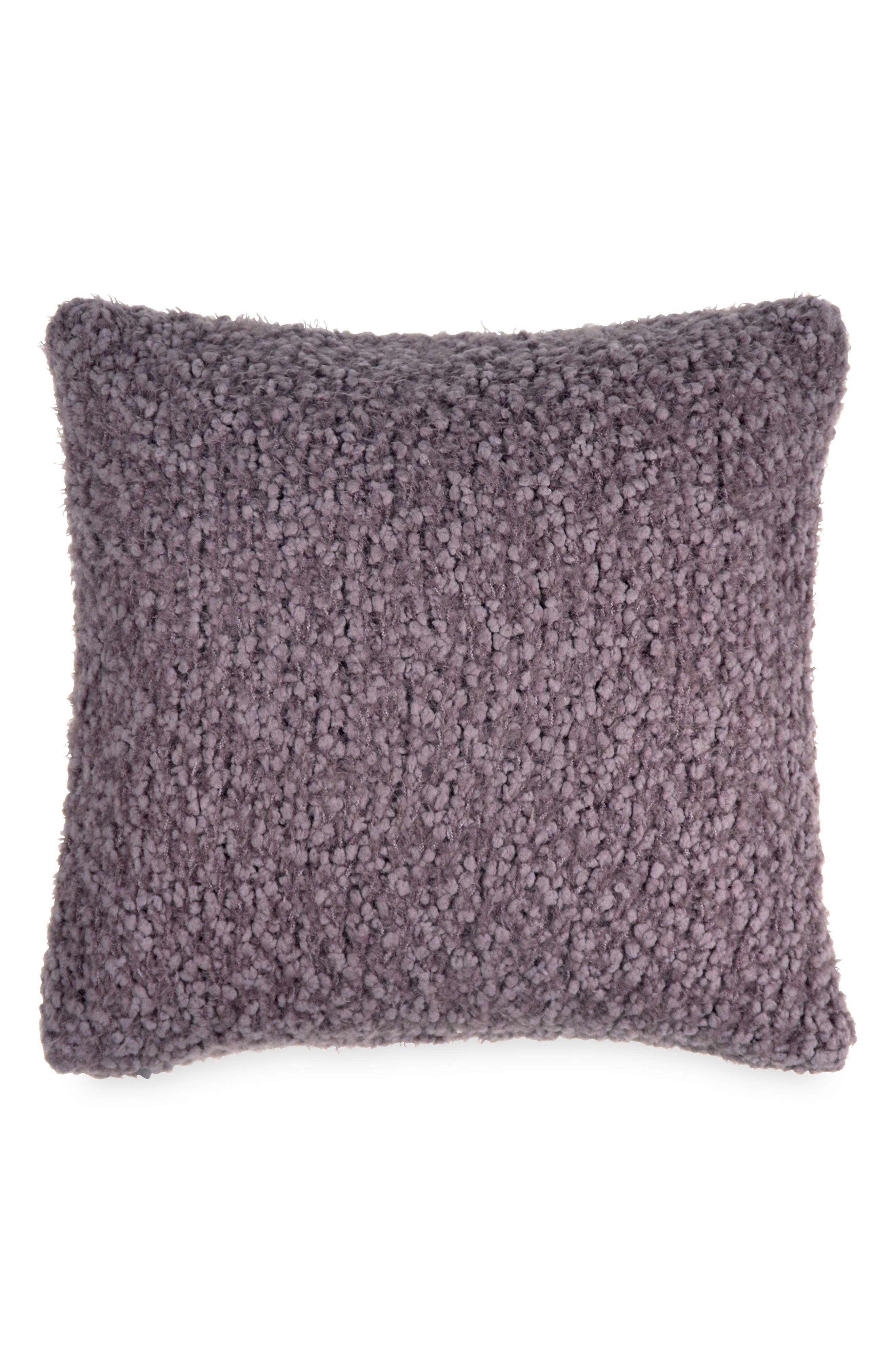 X Factor Knit Accent Pillow,                             Main thumbnail 1, color,                             Purple Dusk